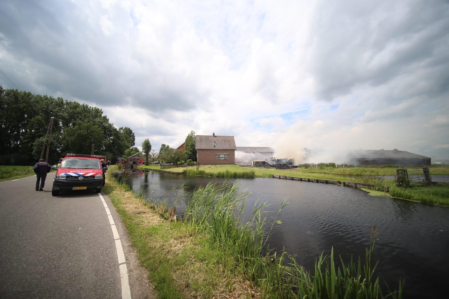 Forse schade na brand in schuur Tussenlanen Bergambacht