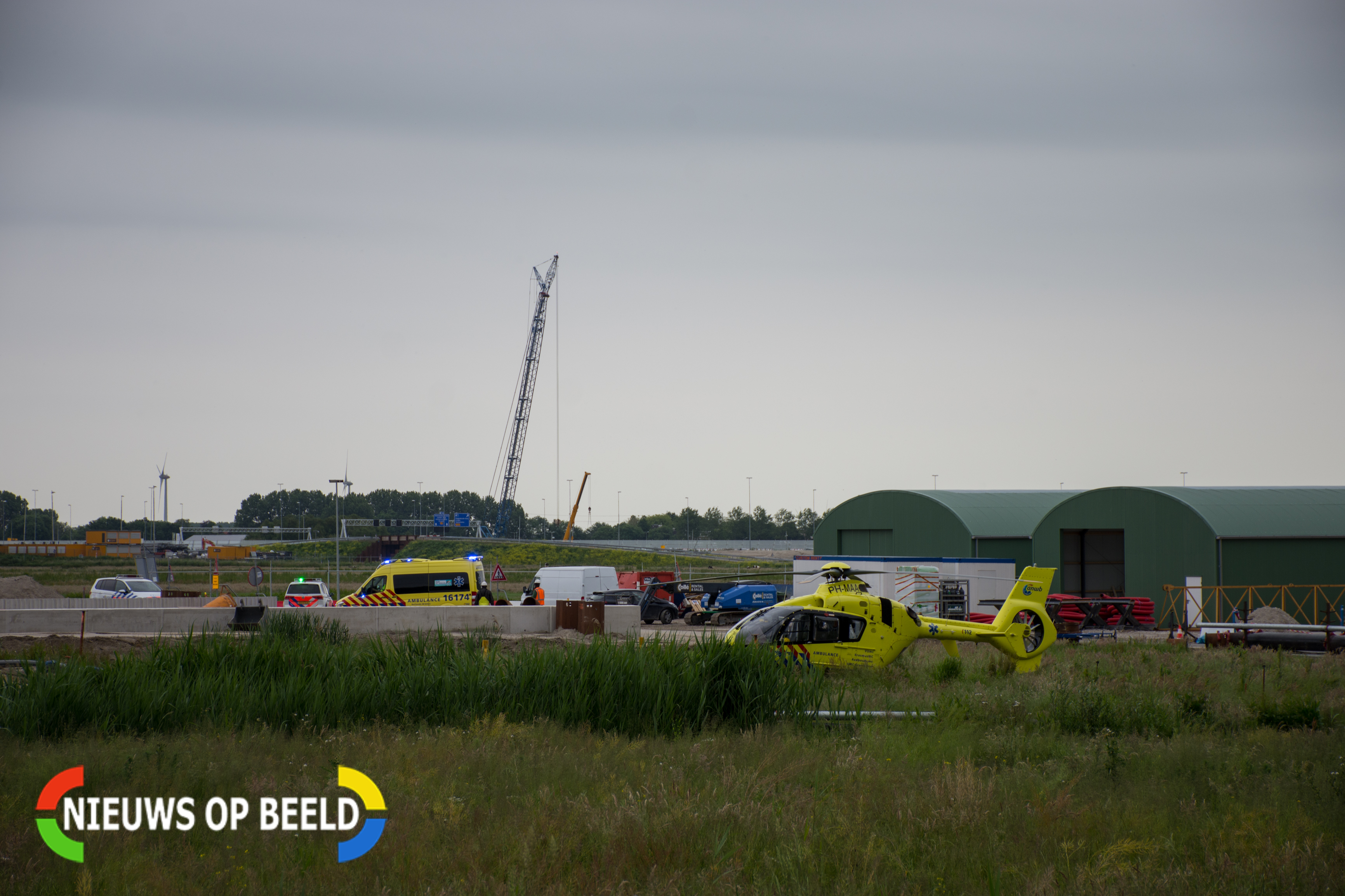 Bouwvakker zwaargewond bij aanleg RijnlandRoute