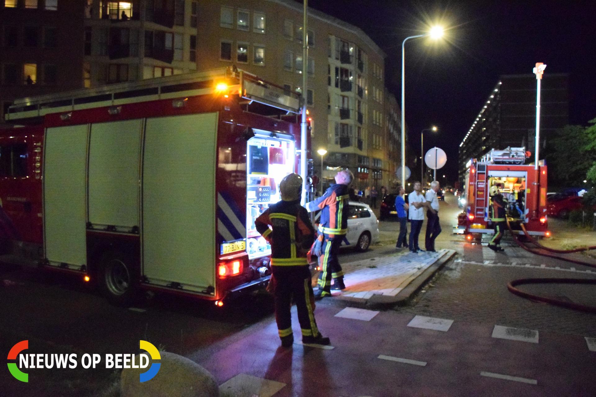 Twee personen ademen rook in bij brand in flat Diamantstraat Alphen aan den Rijn