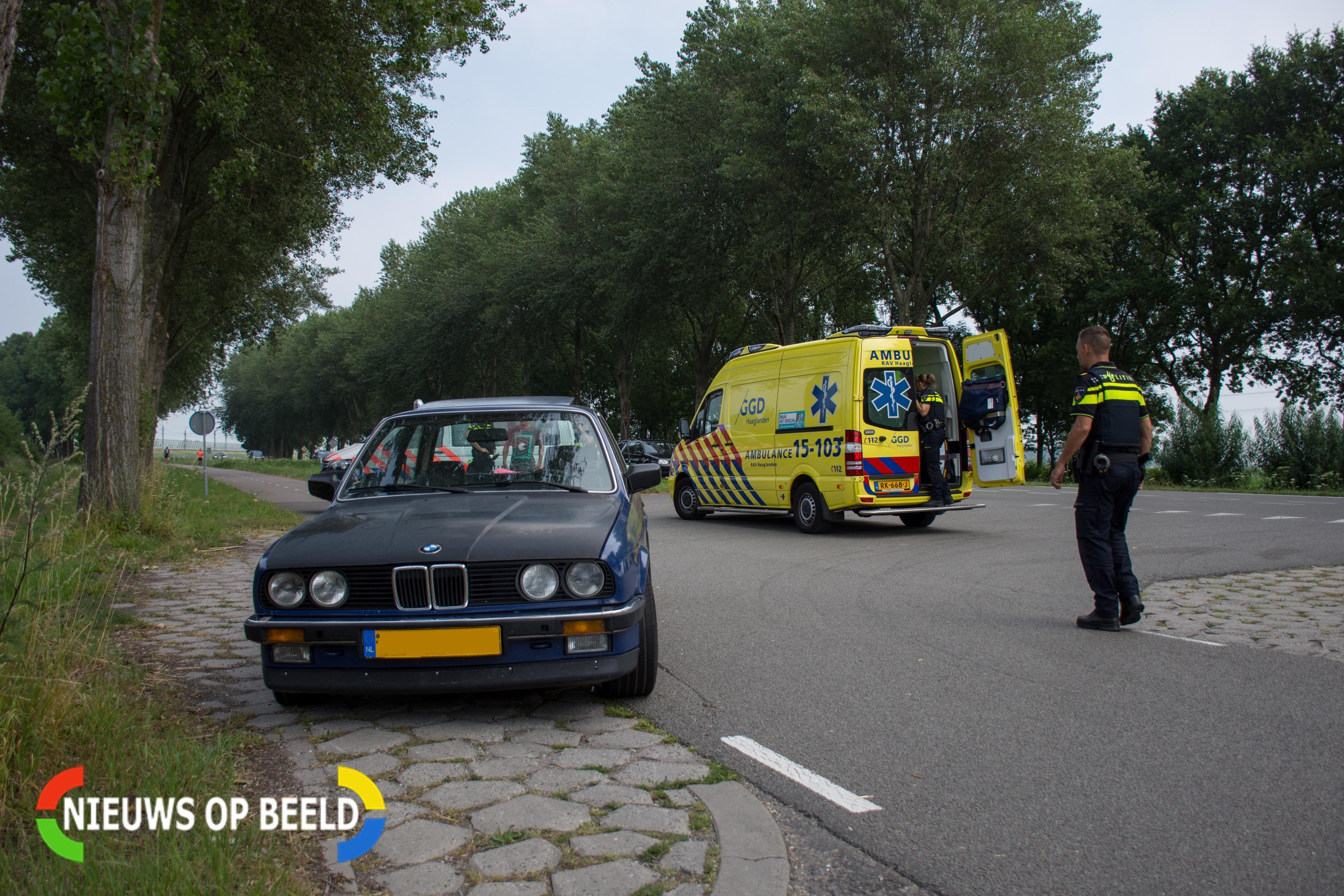 Fietser gewond na aanrijding met auto in Bleiswijk