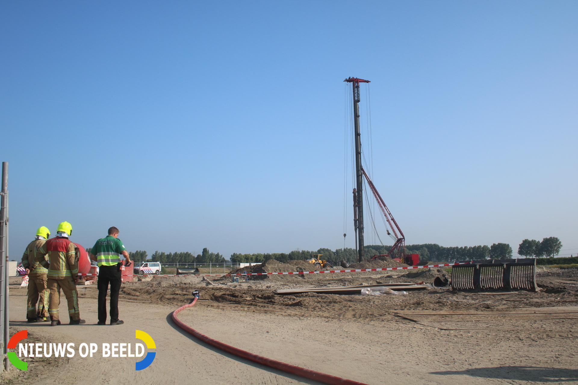 Hoofdgasleiding geraakt bij werkzaamheden Slijpsteen Zuidland