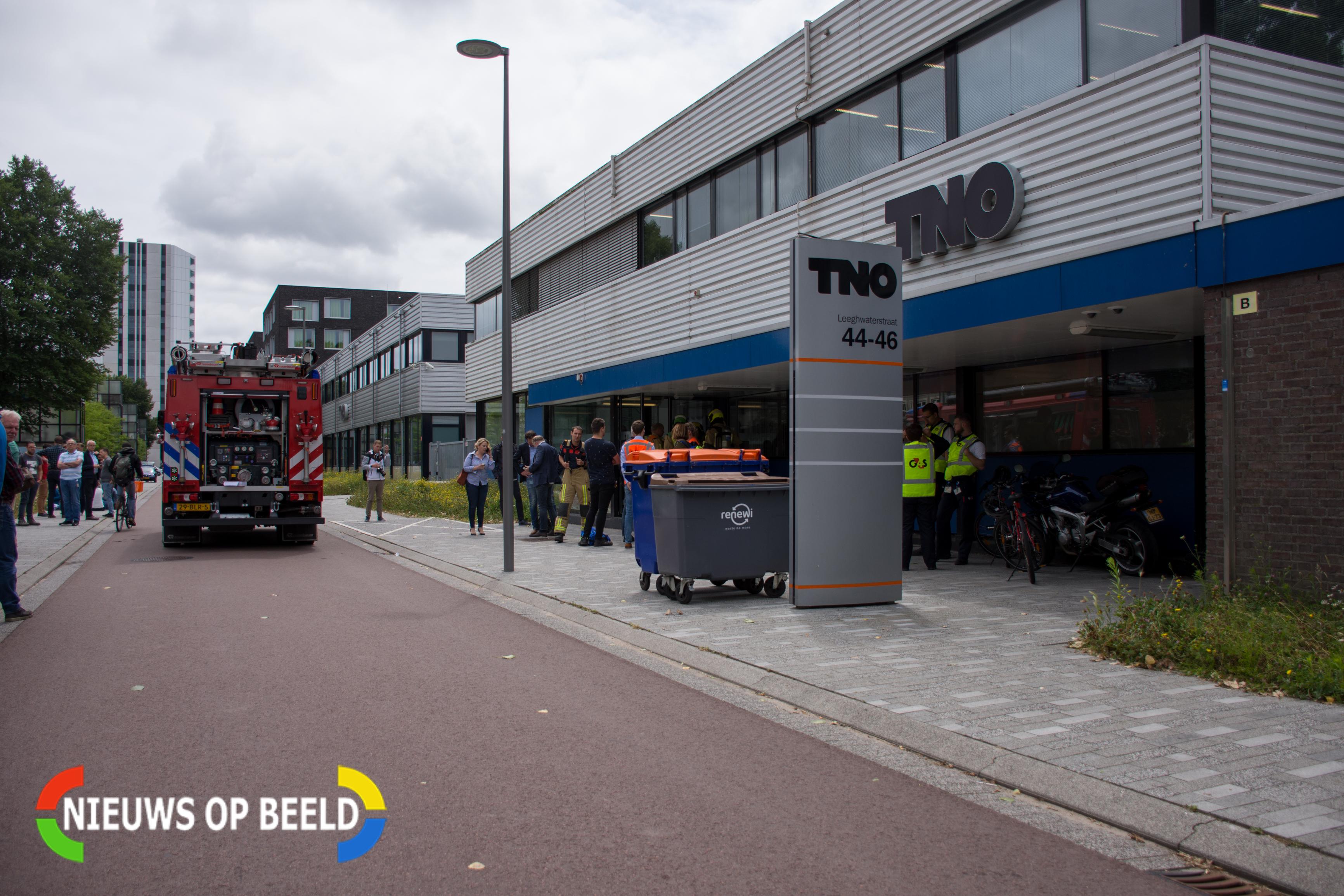 TNO Delft korte tijd ontruimd geweest door vreemde lucht