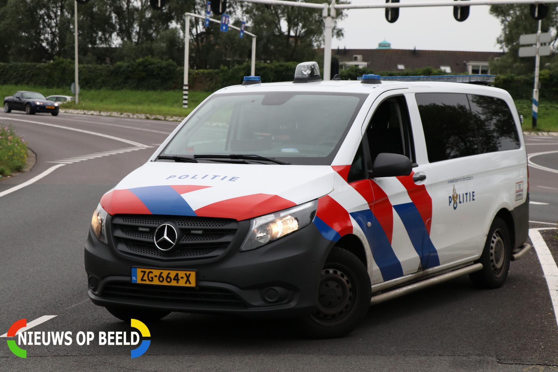 Auto beschoten op N206 Wassenaarseweg in Katwijk