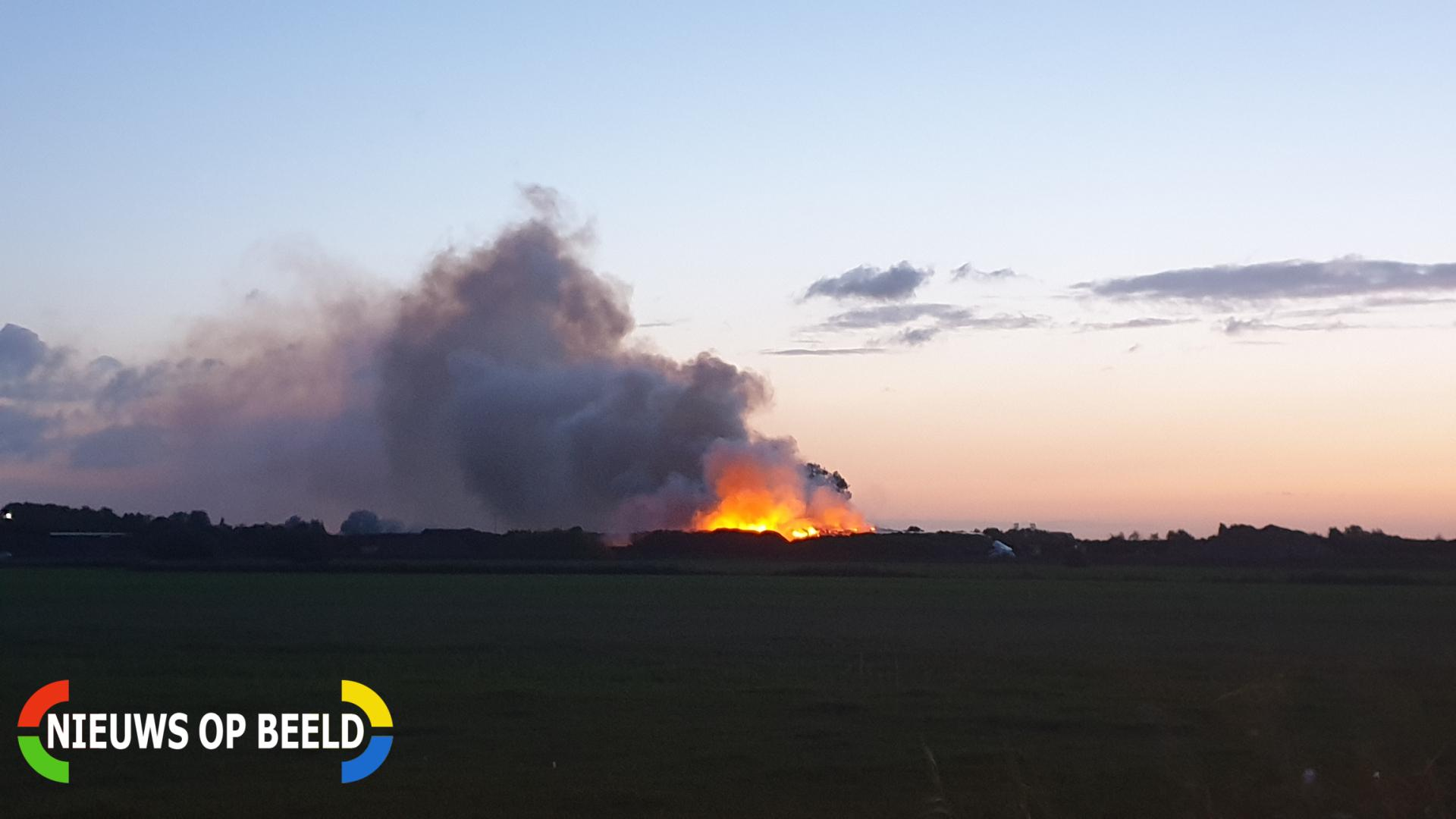 Grote brand Wagro Tweede Bloksweg Waddinxveen