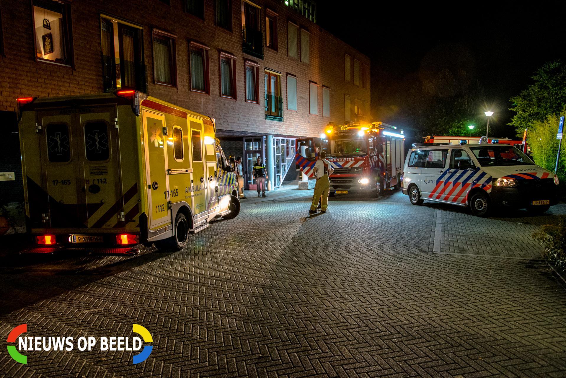 Verzorgingstehuis ontruimd door brand Het Wiel Poortugaal