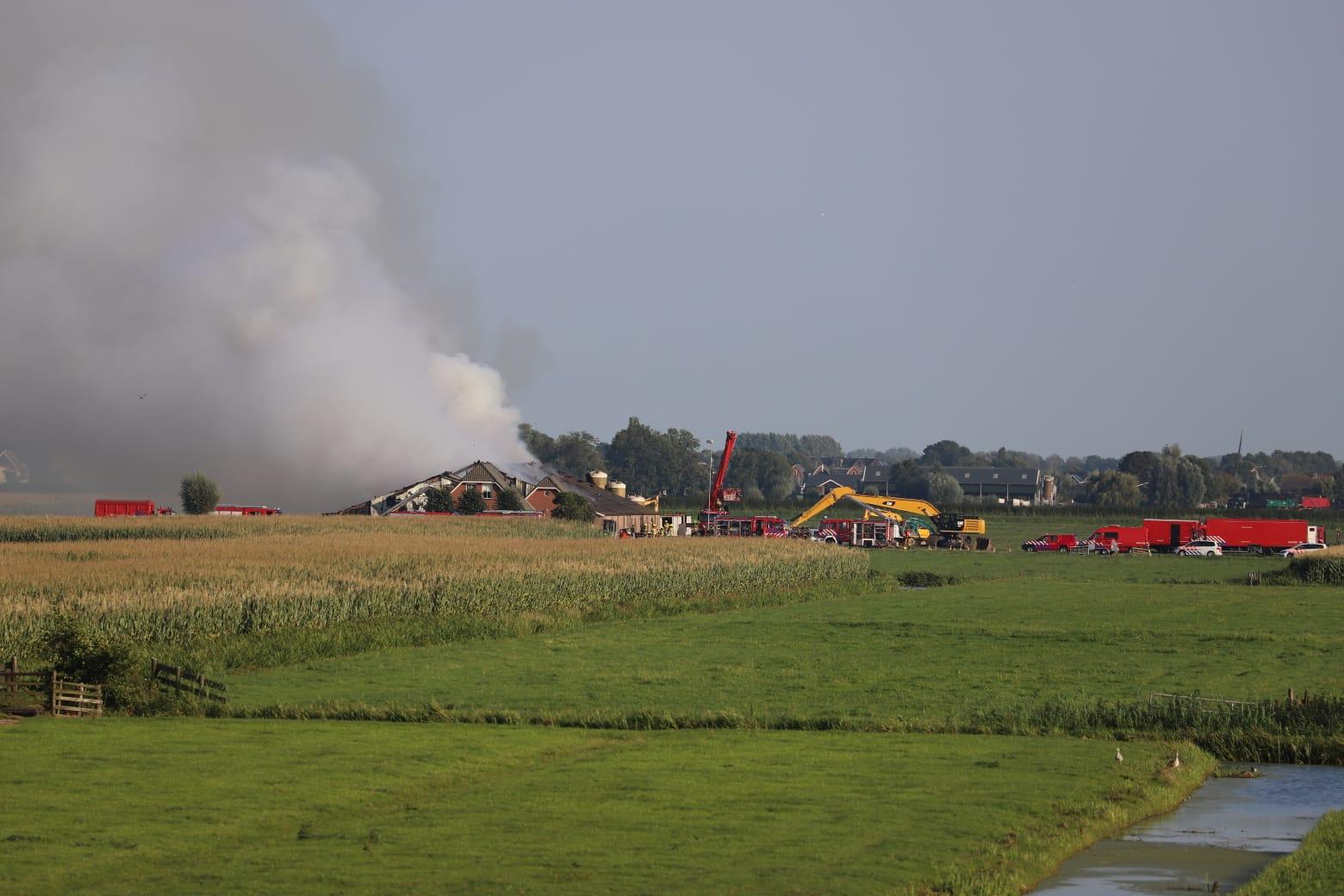 Grote stalbrand doodt 1485 varkens in Streefkerk