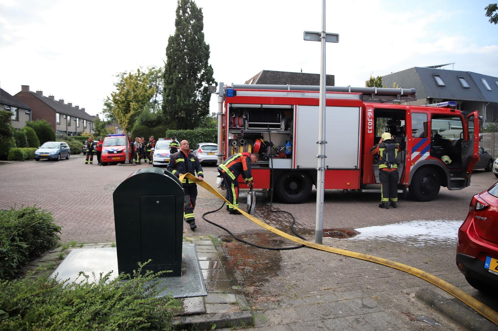 Brandweer blust ondergrondse container Tormentil Reeuwijk