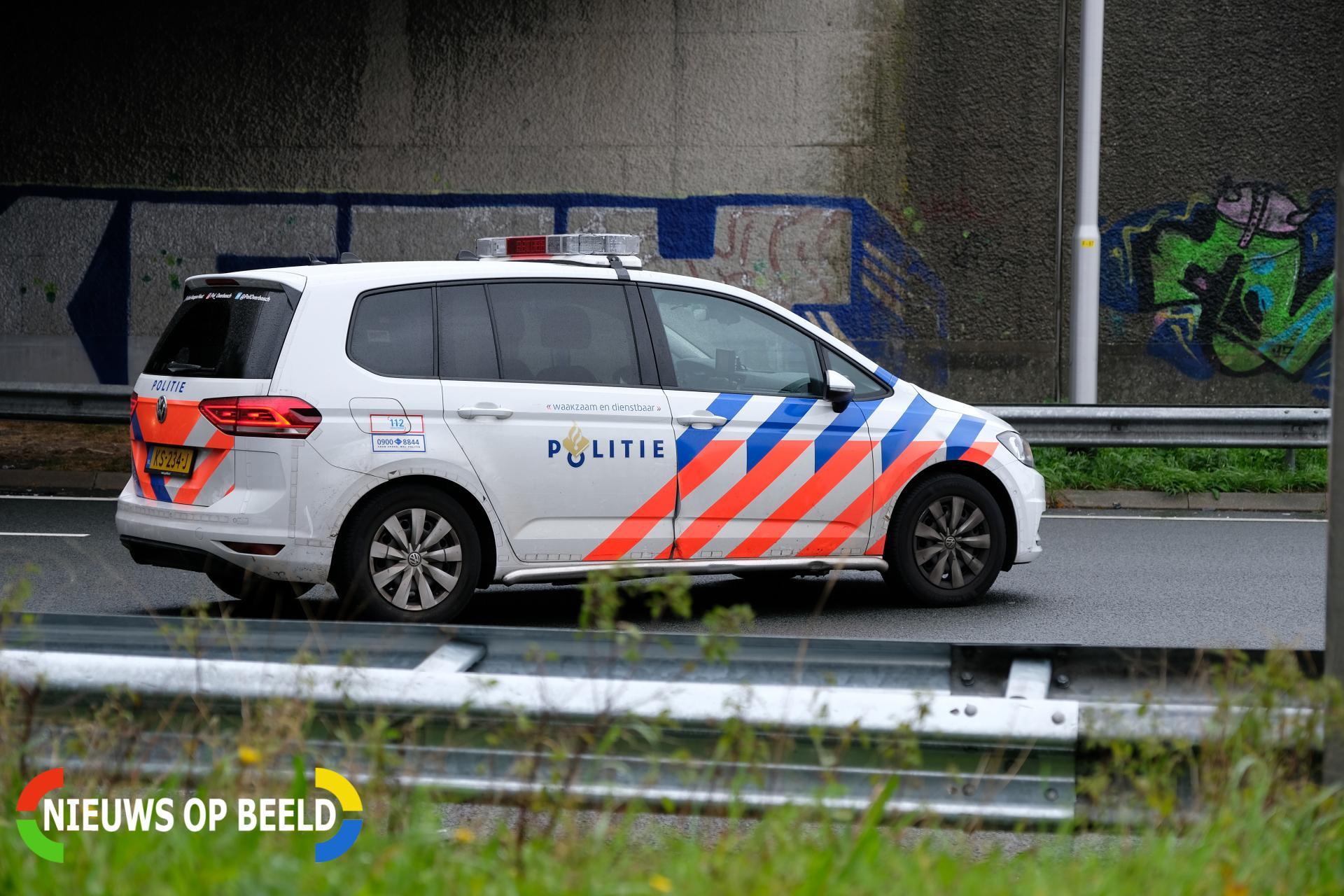 Vrachtwagen gekanteld A38 / A16 Ridderkerk