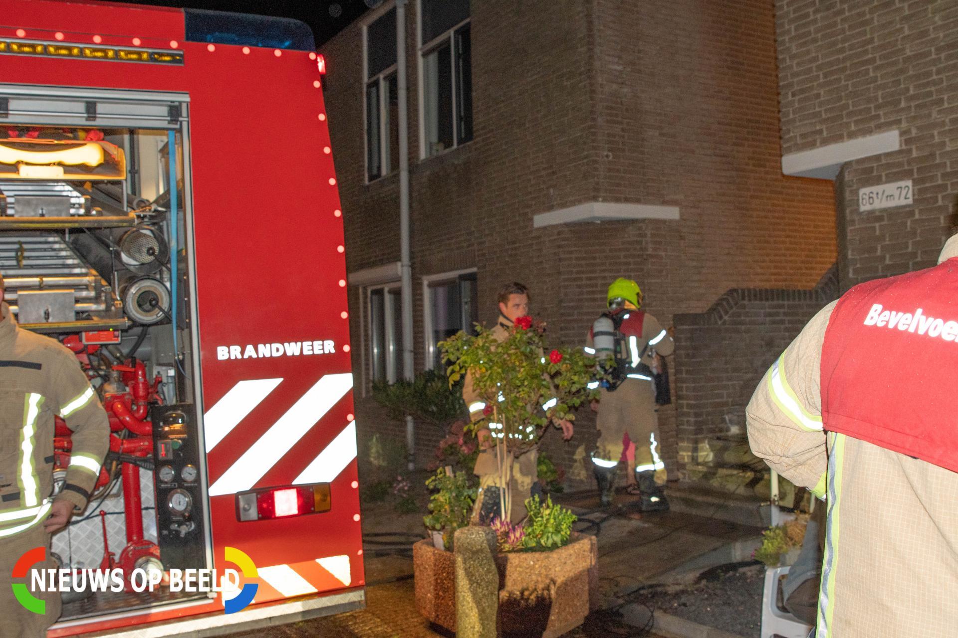 Wasdroger in brand Koedijk Hellevoetsluis