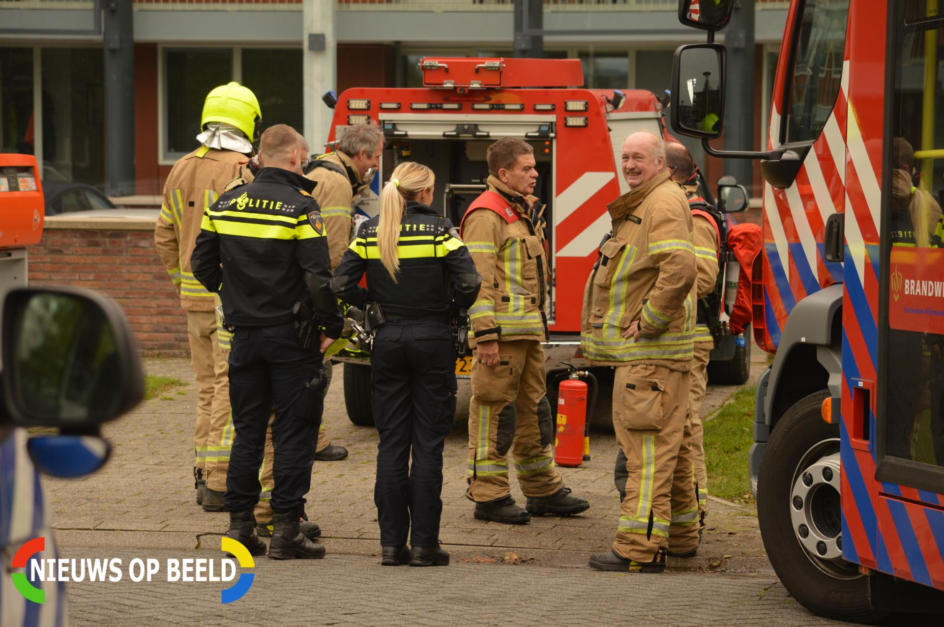 Brandweer blust vuur in pannetje Muiderstraat Berkel en Rodenrijs