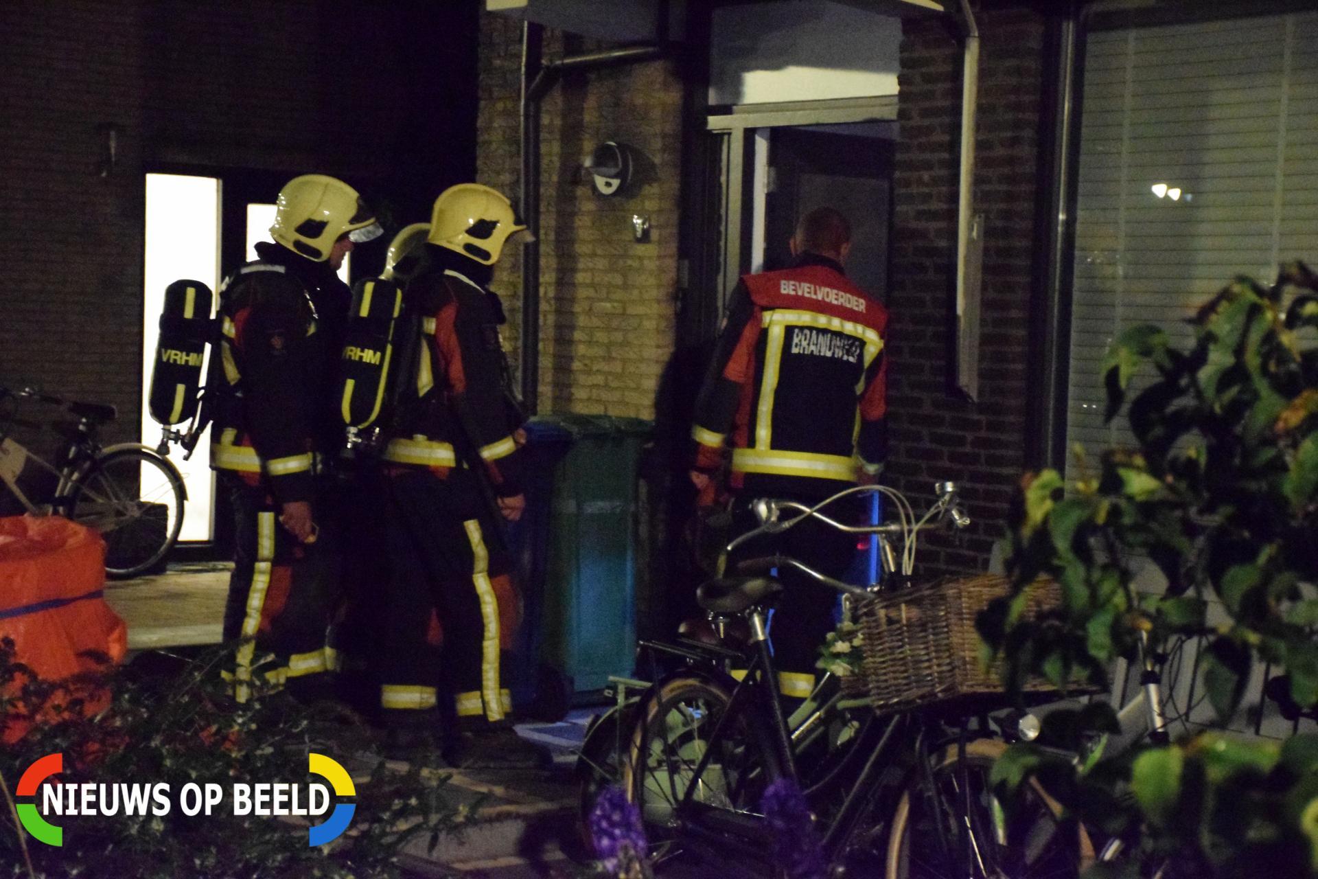 Brandweer enige tijd bezig met gaslucht De Wikke Reeuwijk