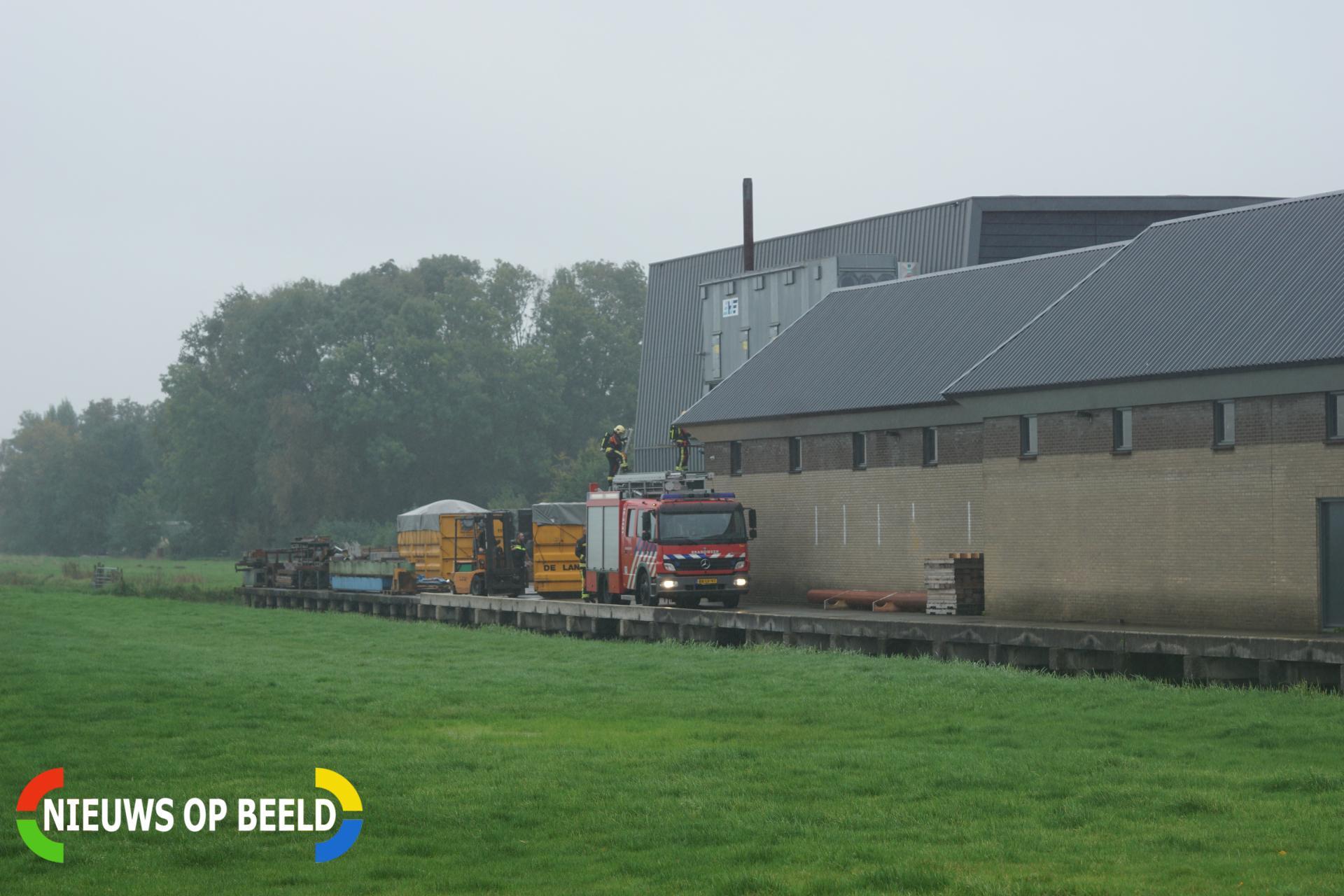 Bouwcontainer vliegt in brand achter bedrijfspand Henegouwerweg – N207 Waddinxveen