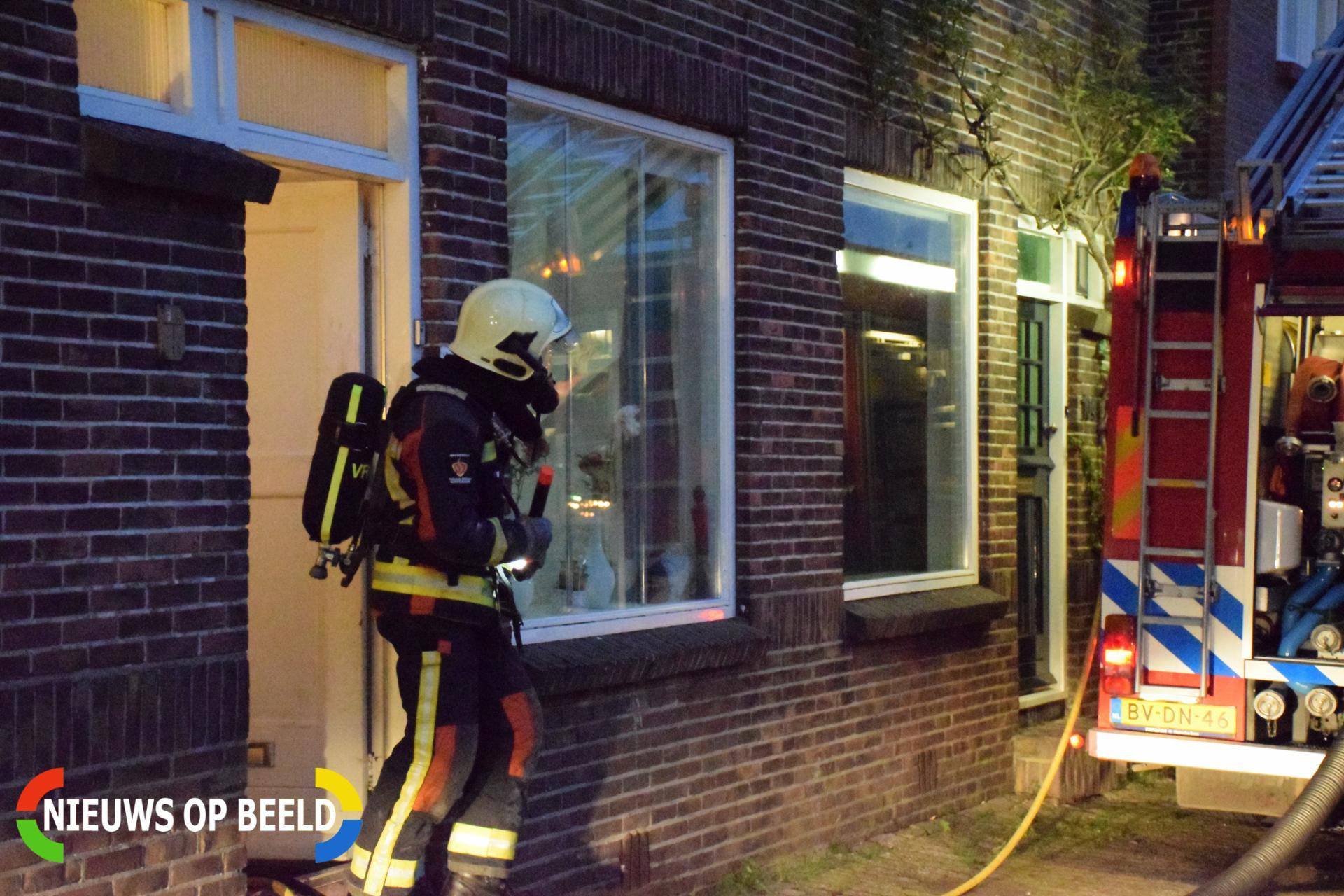 Veel schade na woningbrand Emmakade Bodegraven