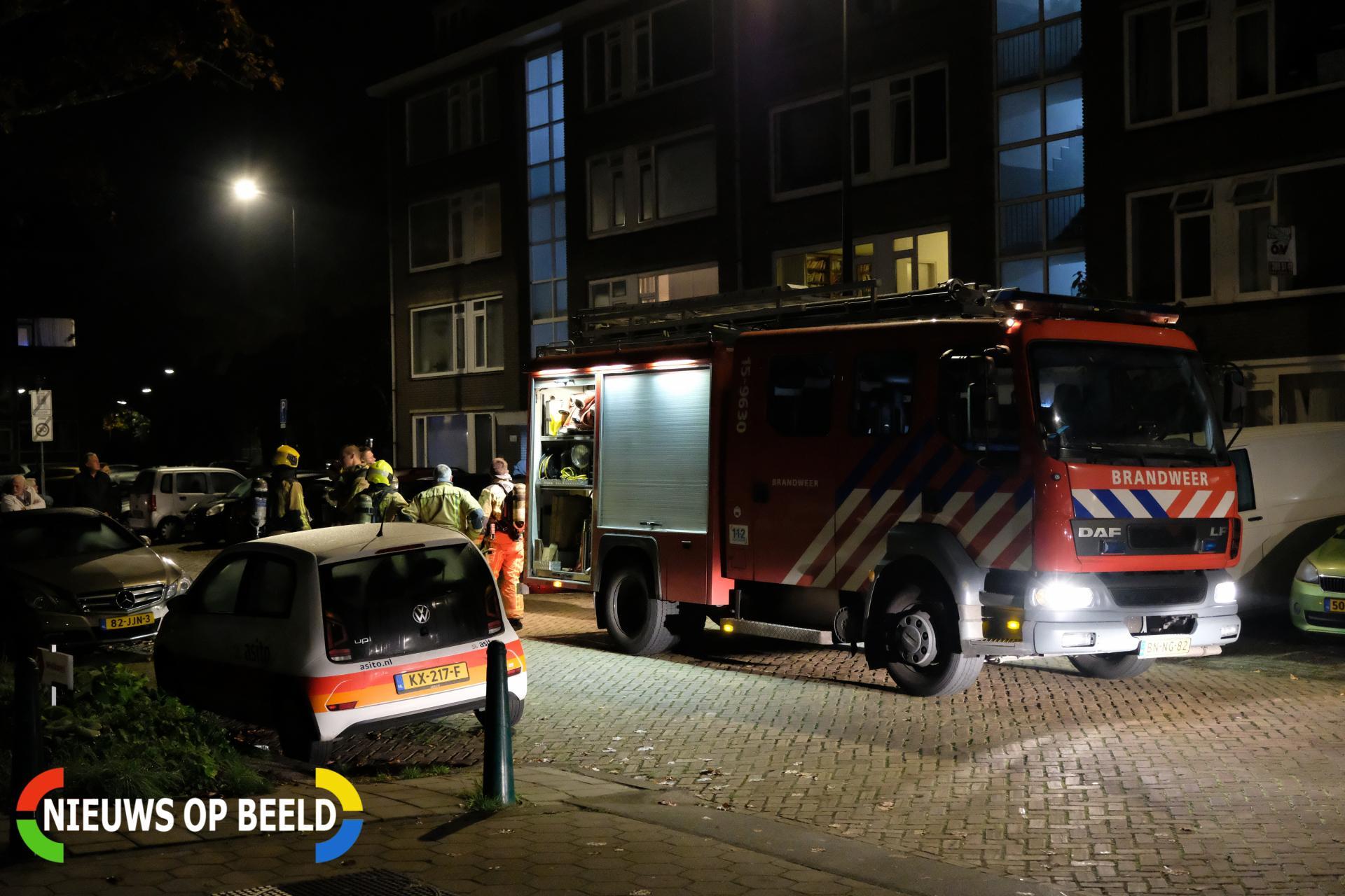 Flinke rookontwikkeling bij brand in flatwoning Minister Aalberselaan Rijswijk