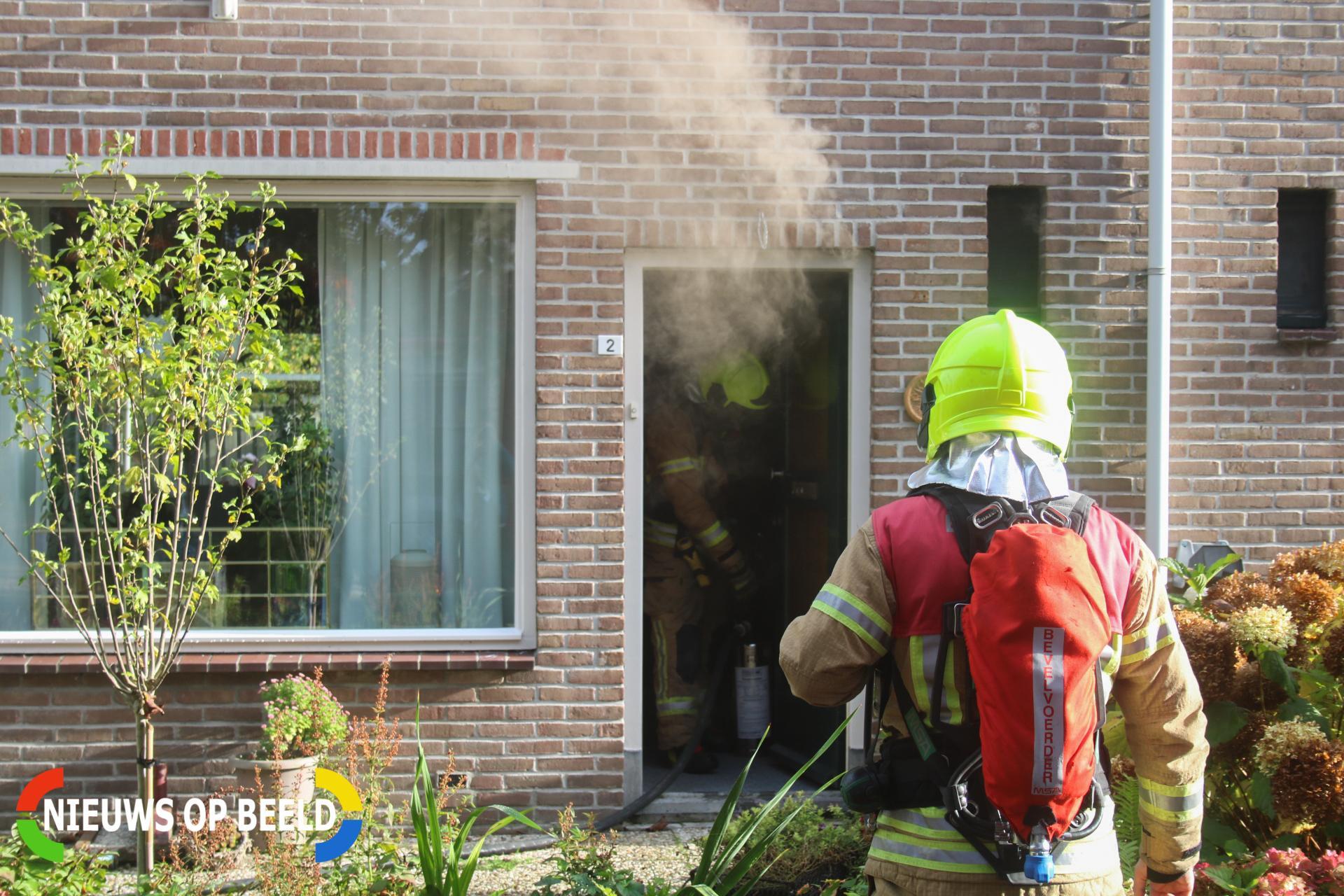 Veel rook bij brand in meterkast Schoolstraat Abbenbroek