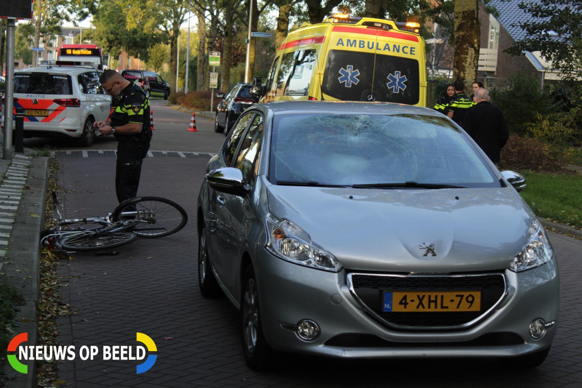 Fietser gewond na aanrijding met auto Grutto Bodegraven
