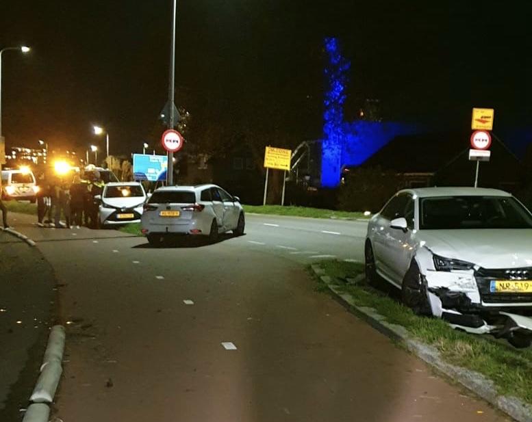 Ravage na éénzijdig ongeval Nijverheidstraat Capelle aan den IJssel
