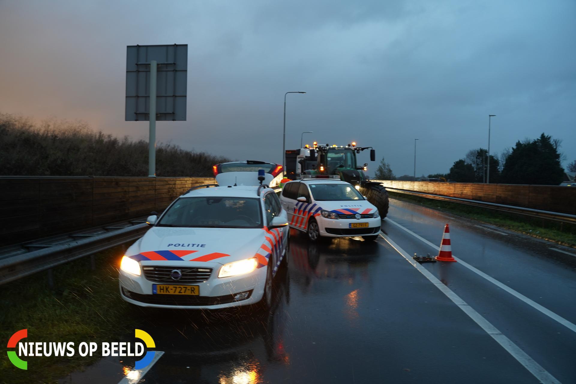 Veel vertraging door ongeluk met vrachtwagen N219 Zevenhuizen
