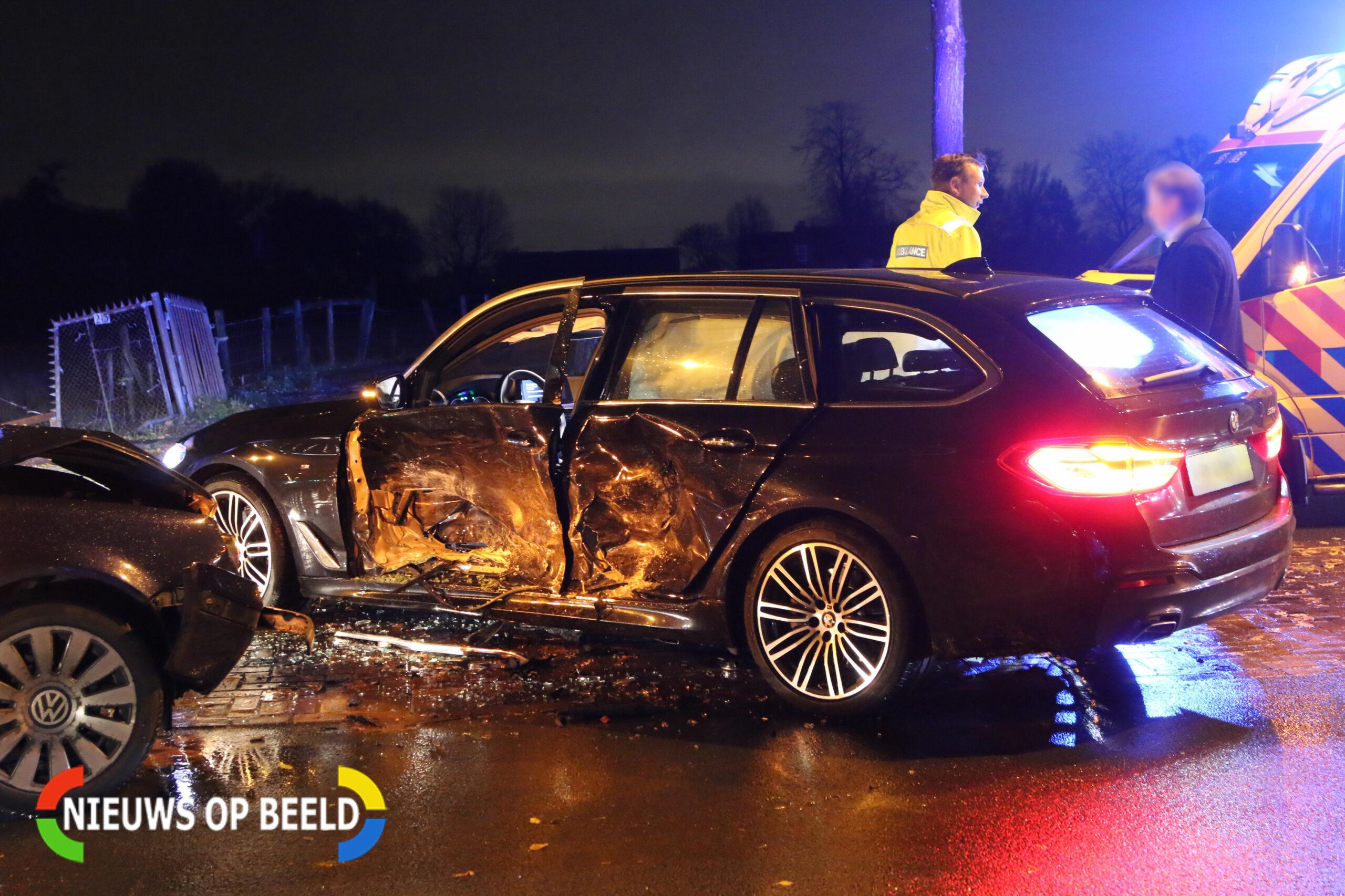 Forse schade na ongeval in Voorschoten