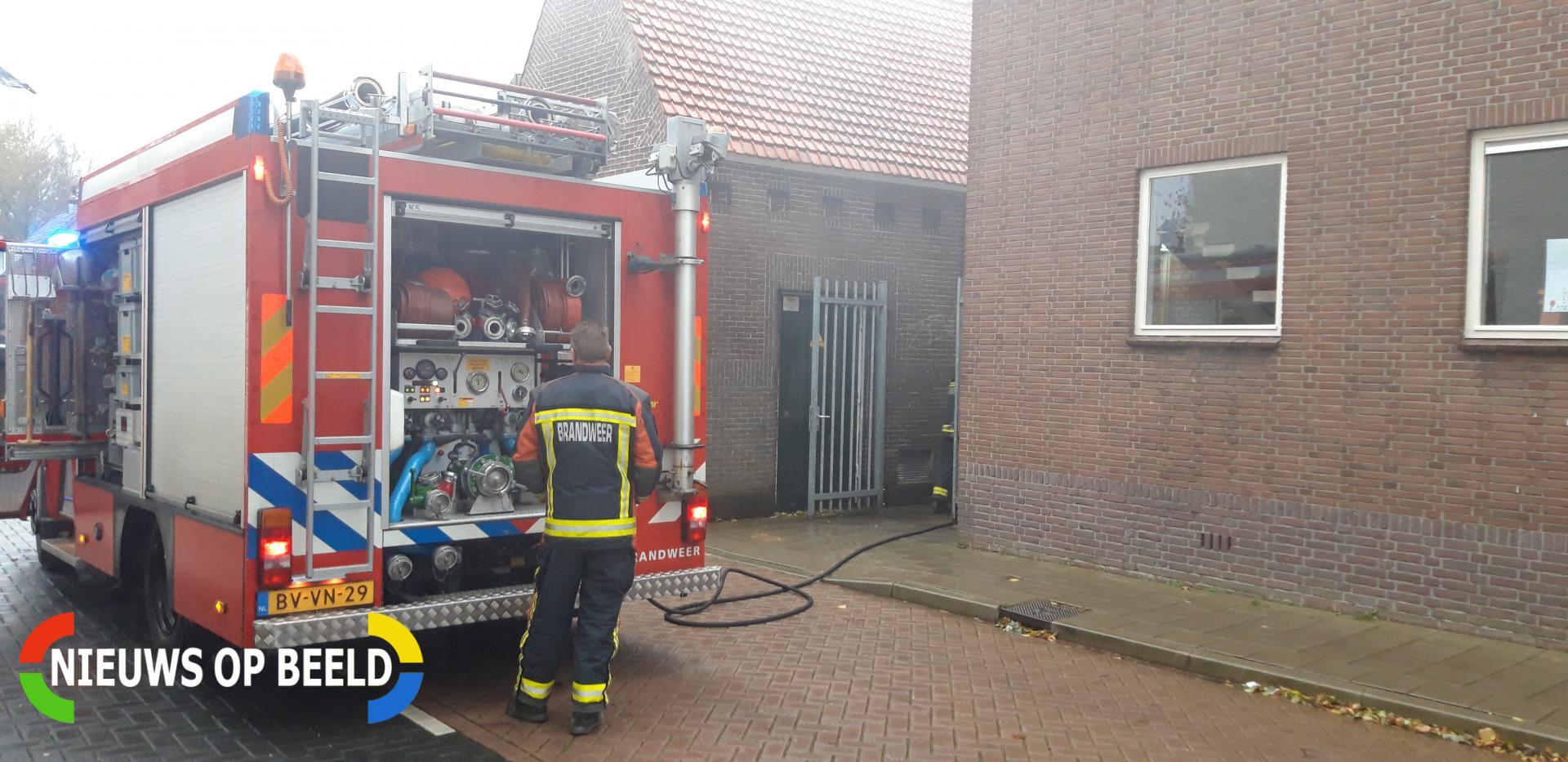 Brandje onder overkapping snel geblust Kerkstraat Waddinxveen