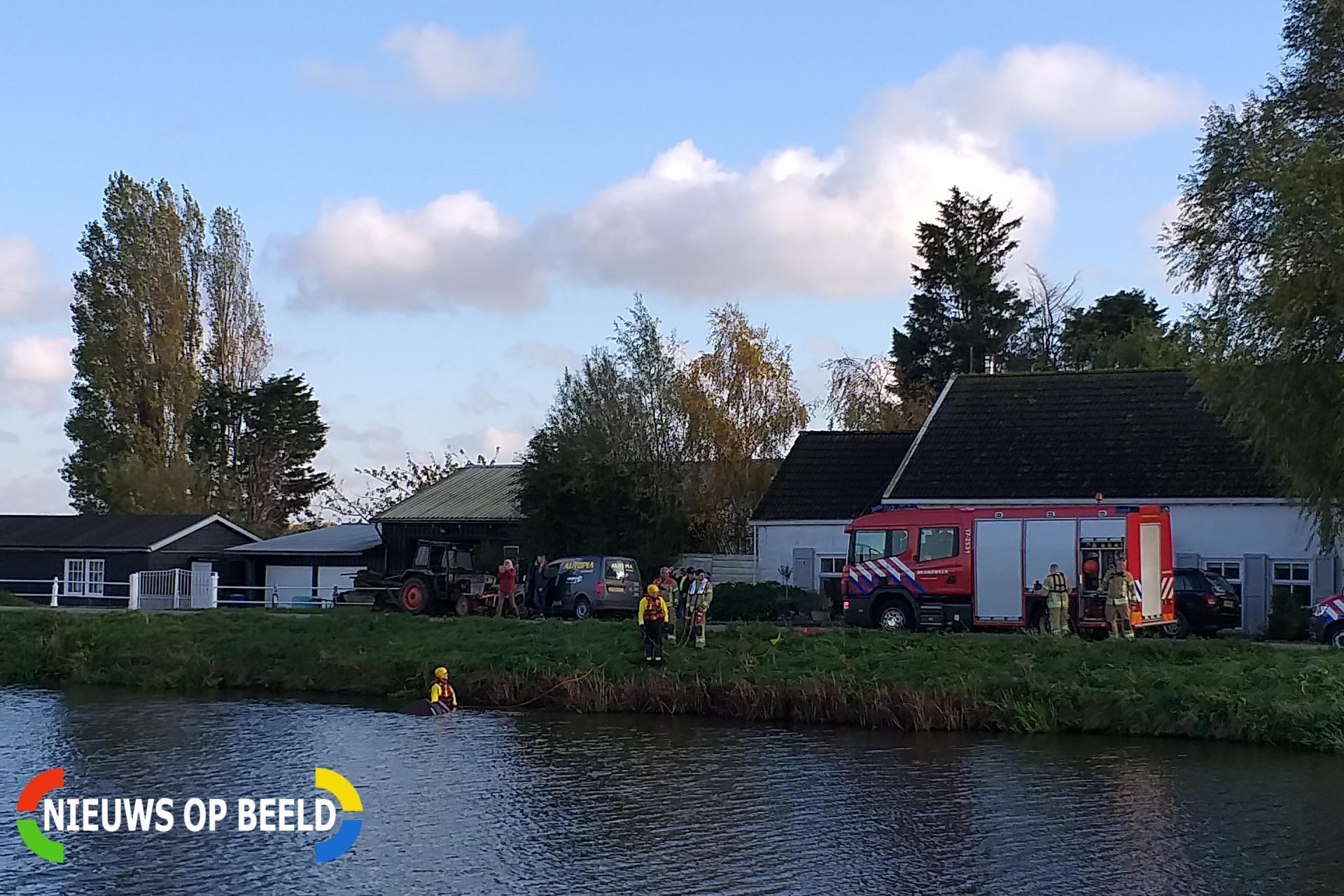 Bestuurder belandt met auto te water na uitwijkmanoeuvre Kanaalweg Westzijde – N494 Hellevoetsluis