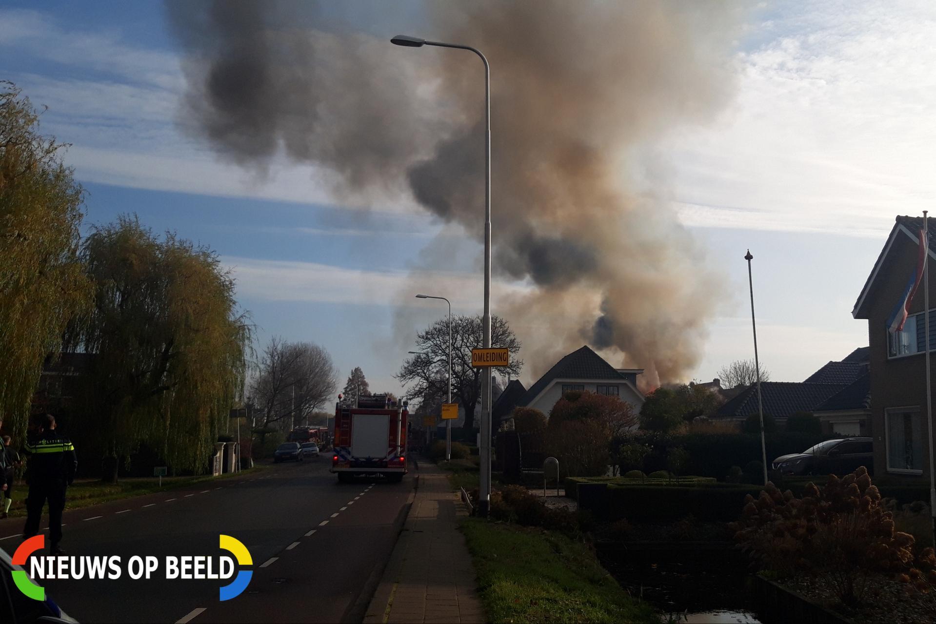 Grote brand in boerderij Noordzijde – N458 Bodegraven