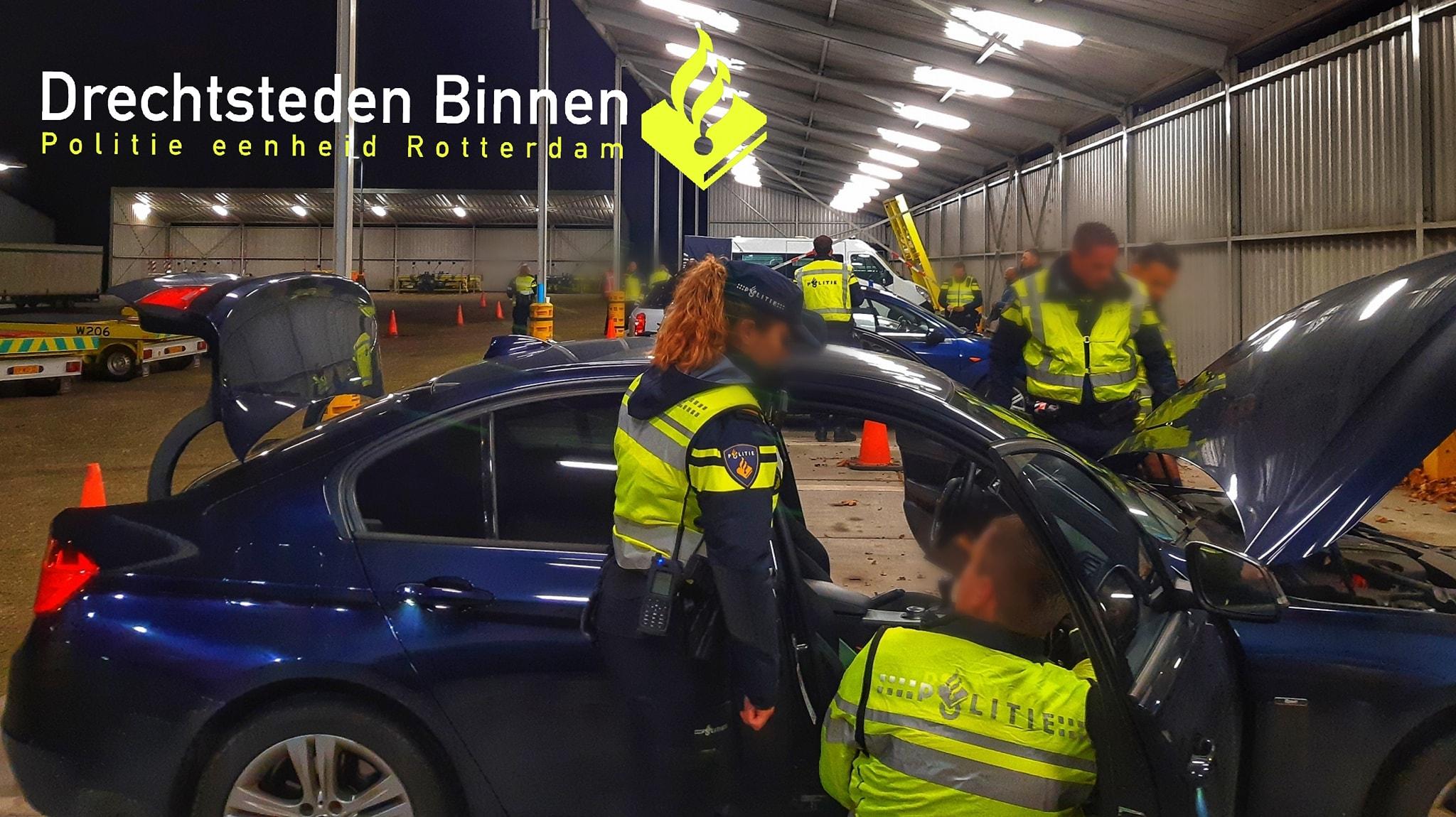 Goede vangsten bij algemene politiecontrole Dordrecht