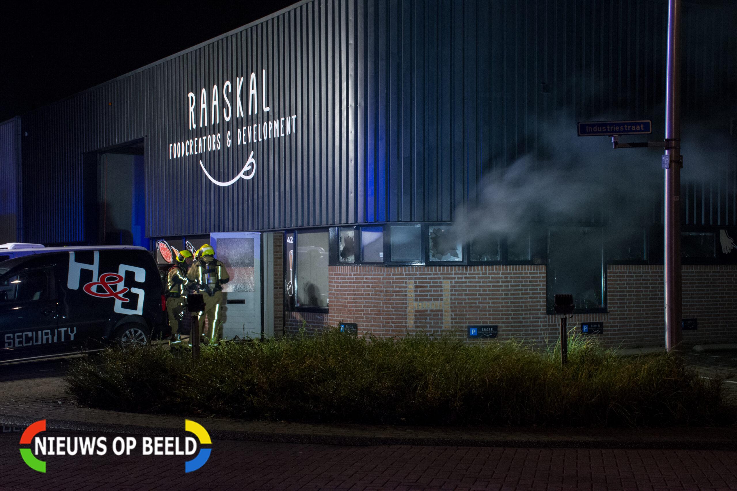 Beveiligers ontdekken brand in bedrijf in Naaldwijk