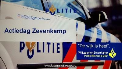 """Politie zet actie """"De wijk is Heet"""" in op Zevenkampse Ring Rotterdam"""