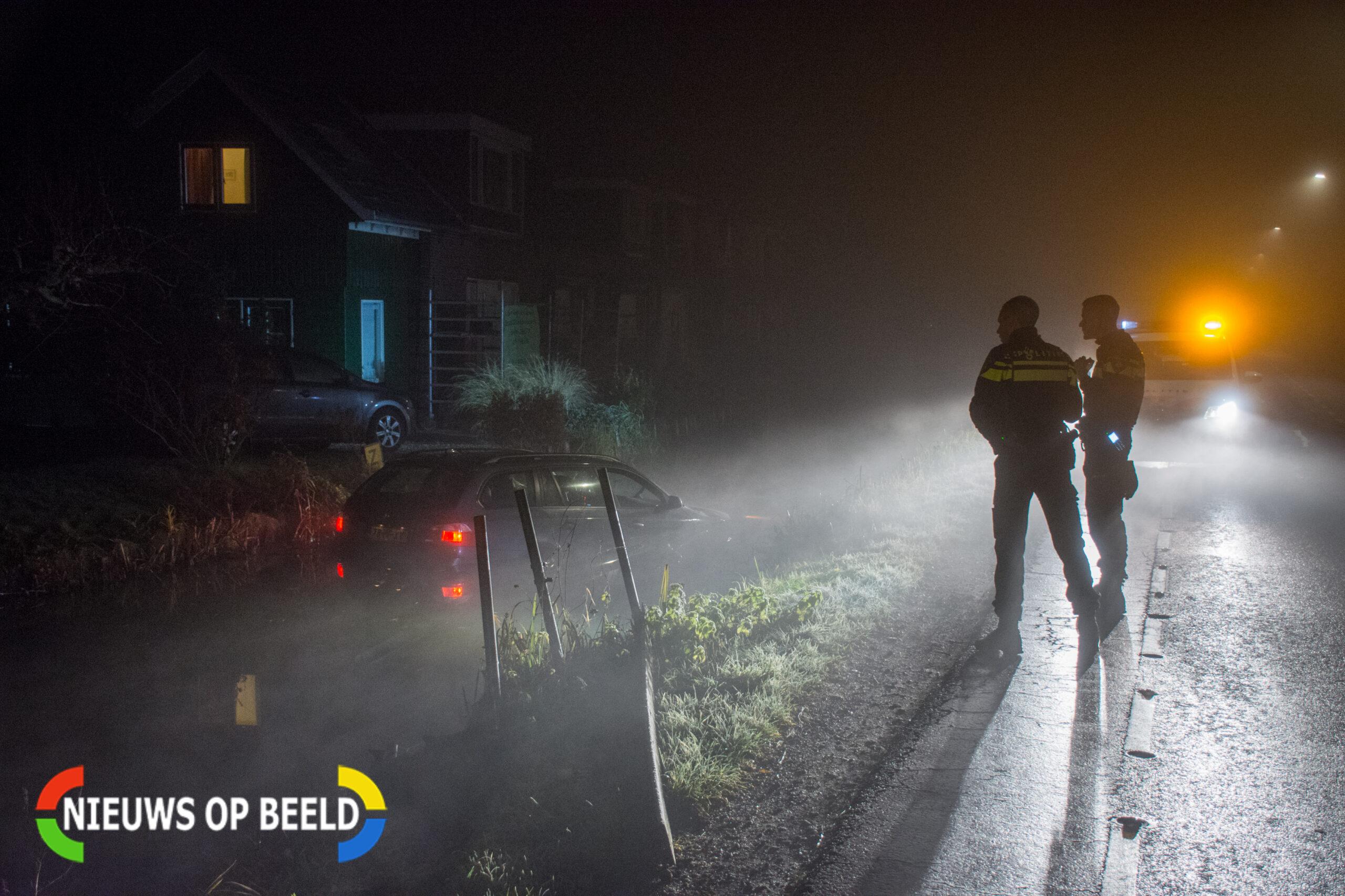 Inzittenden auto mogen van geluk spreken na te water raken auto in Leidschendam
