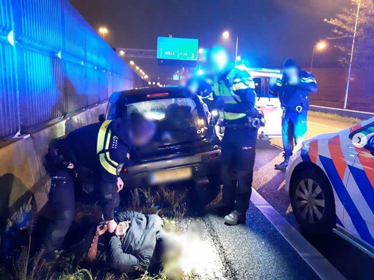 Politie beëindigt achtervolging op rijksweg A20 bij Schiedam