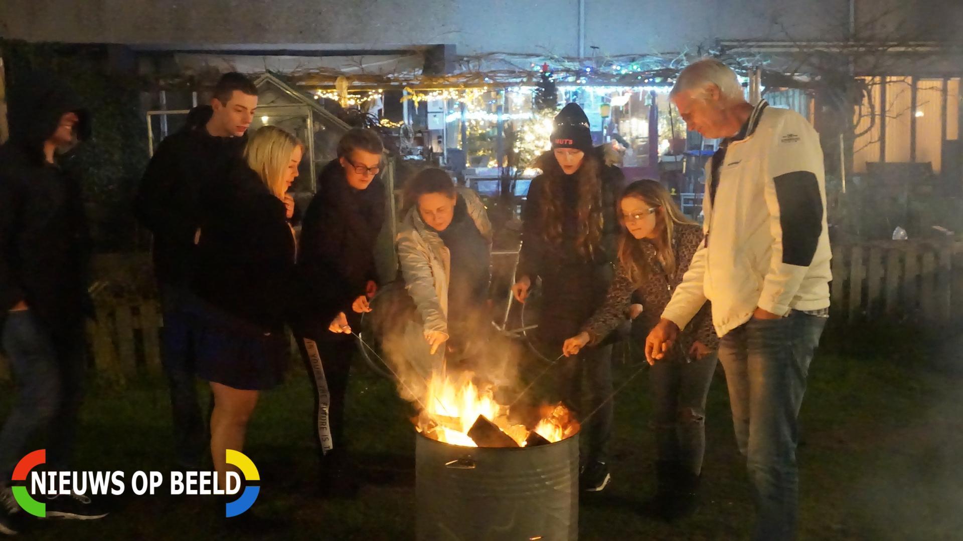 Vreugde vuur met een gezellig drankje Rietzoom Gouda