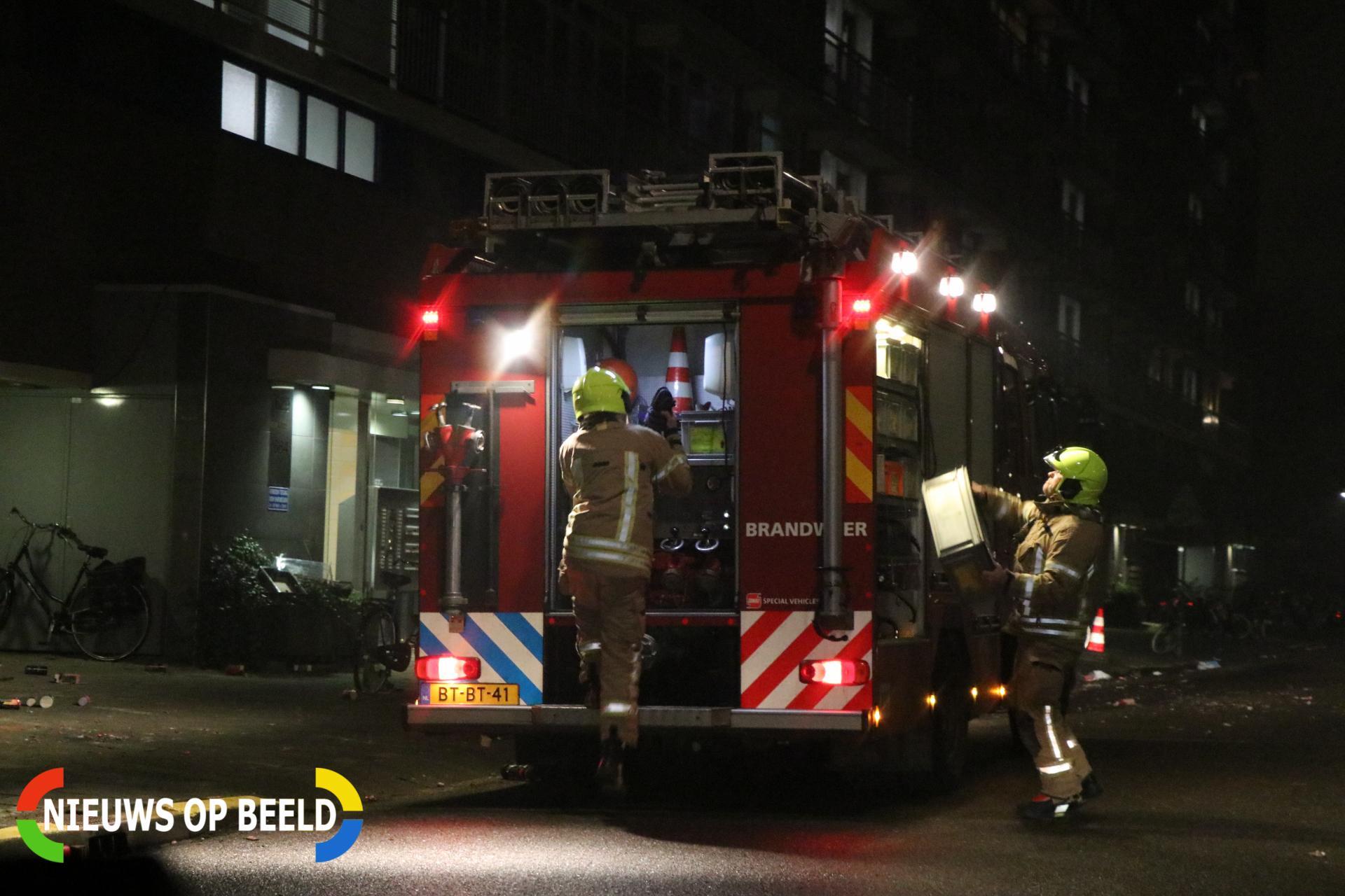 Kranten in de brand gestoken Valeriusrondeel Capelle aan den IJssel