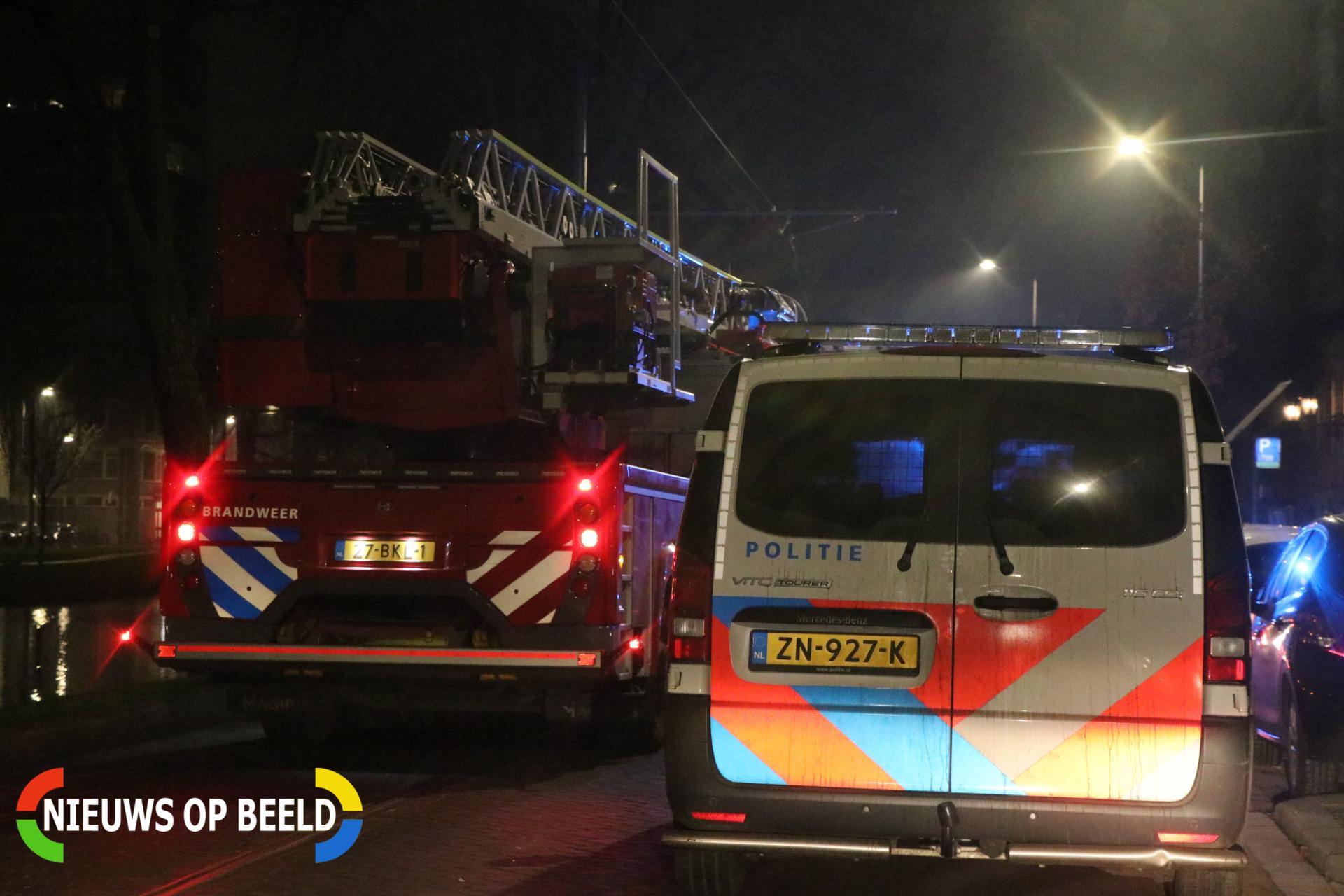 Deur in brand Noordsingel Rotterdam