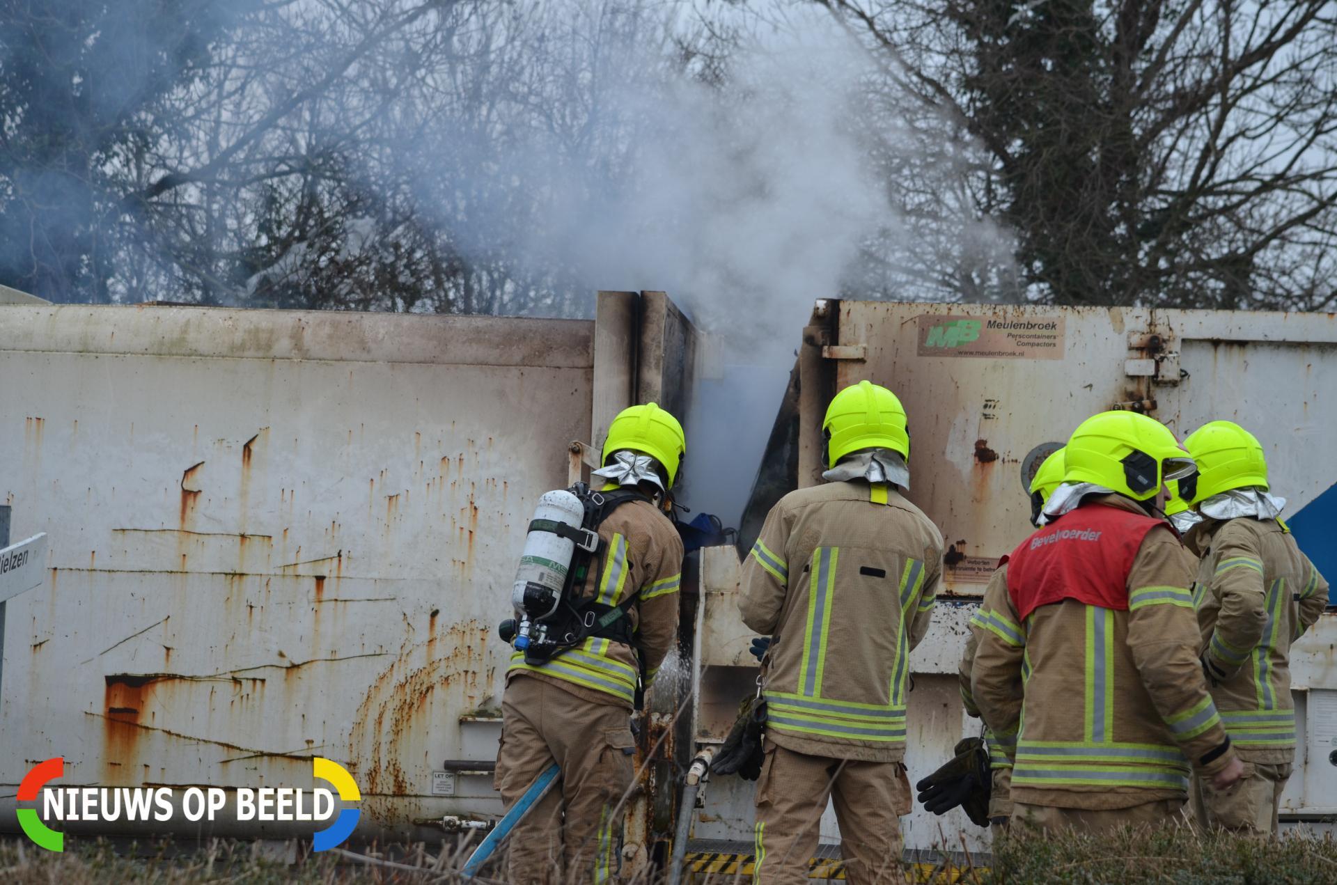 Brand in container bij afvalverwerker Bosland Bergschenhoek