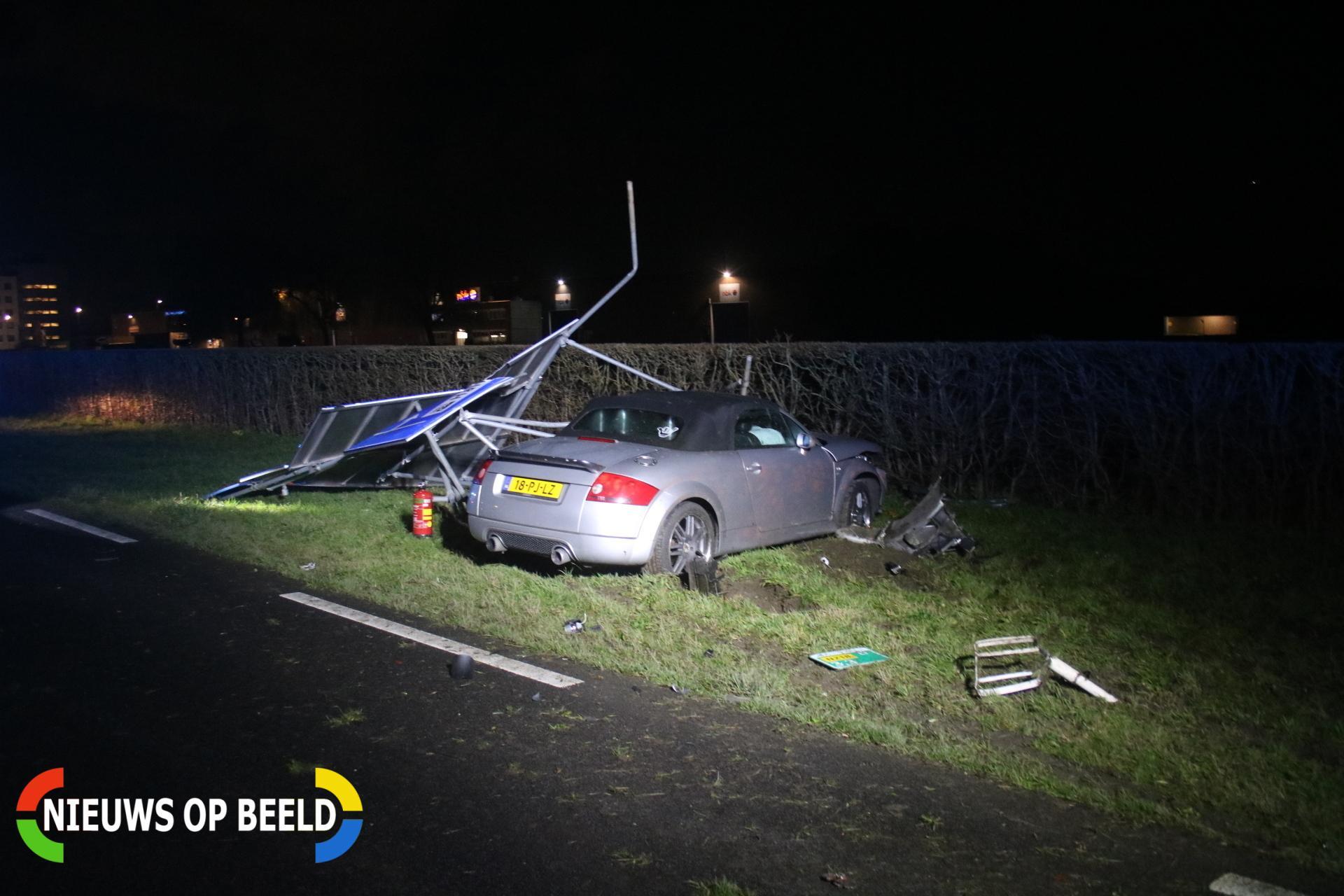 Flinke schade en gewonden na kop-staart aanrijding Groene Kruisweg – N218 Spijkenisse