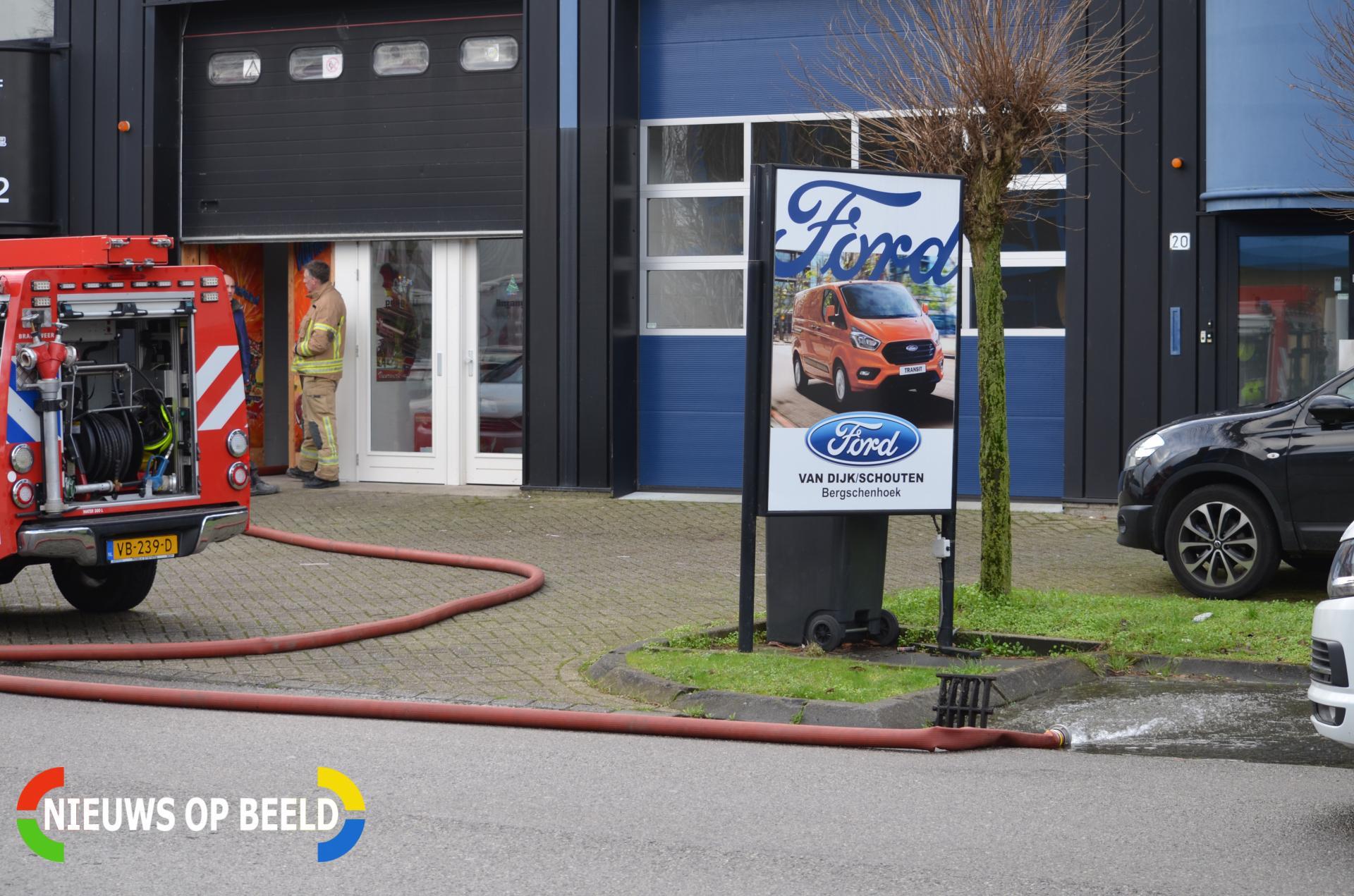 Wateroverlast bij vuurwerkwinkel Weg en Land Bergschenhoek