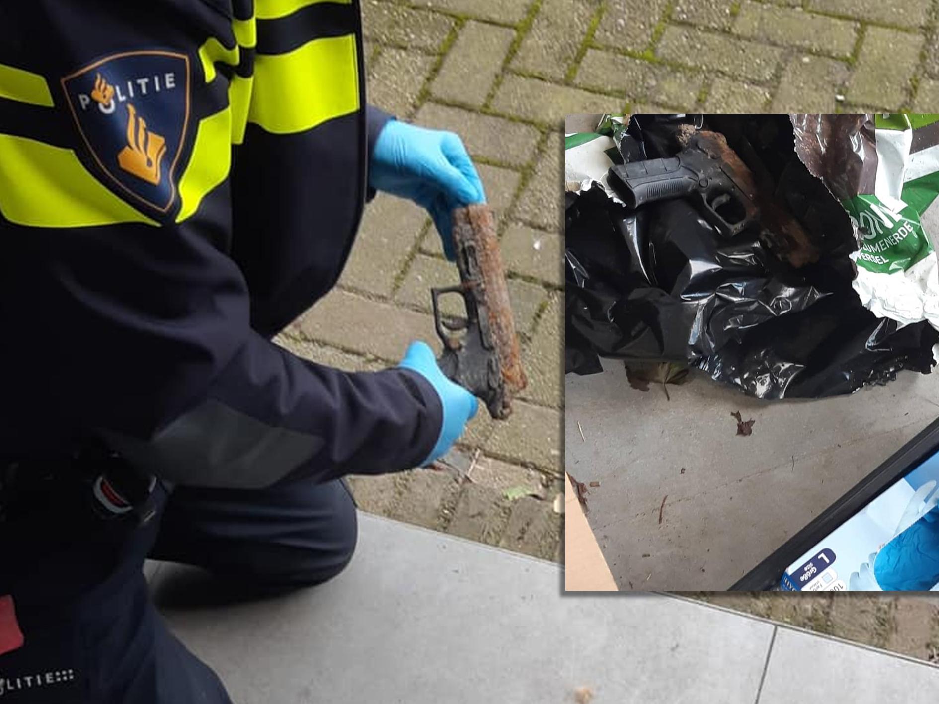 Vuurwapen gevonden langs snelweg Barendrecht