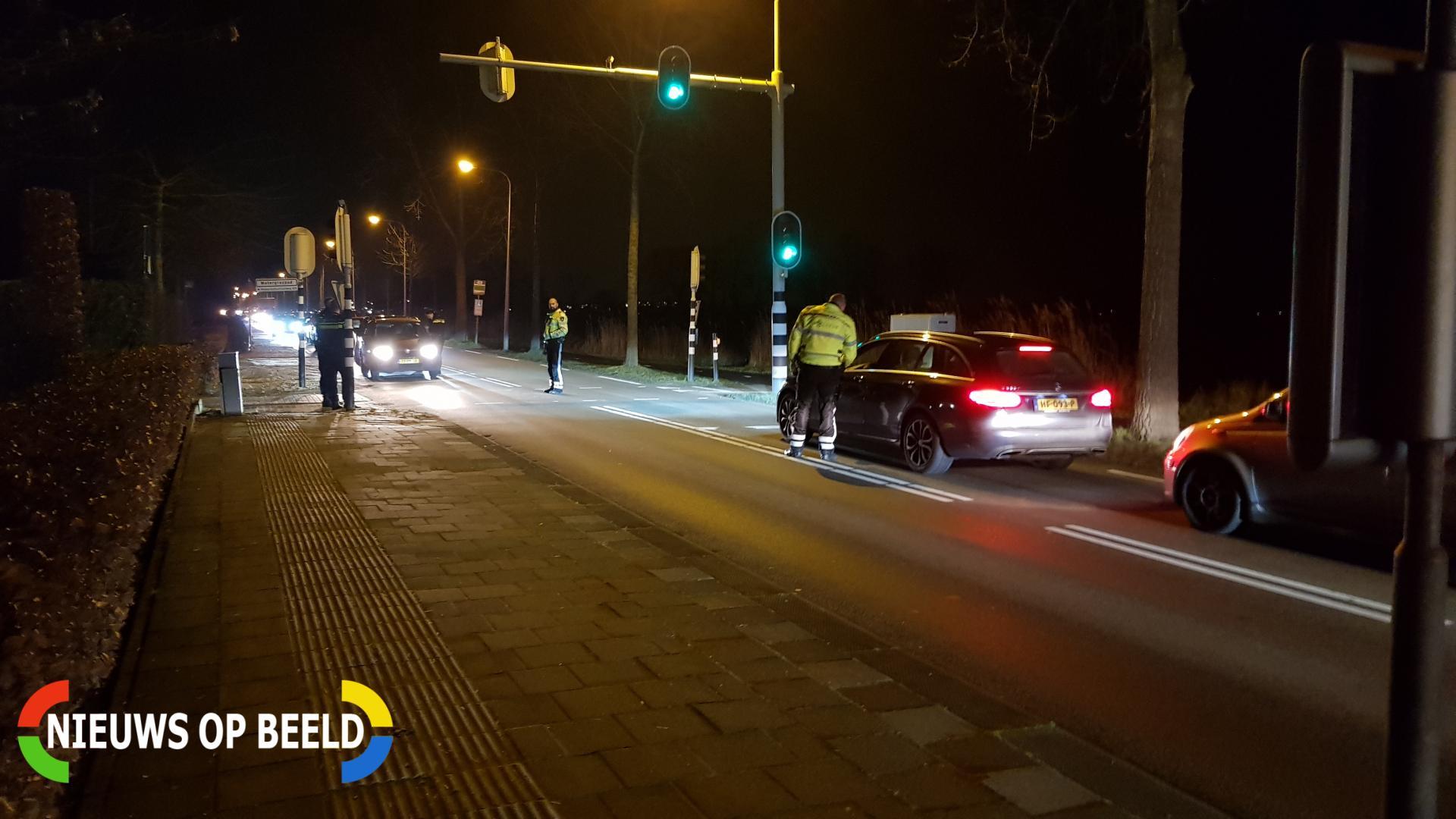 Politie houdt alcohol controle Bodegraafsestraatweg Gouda