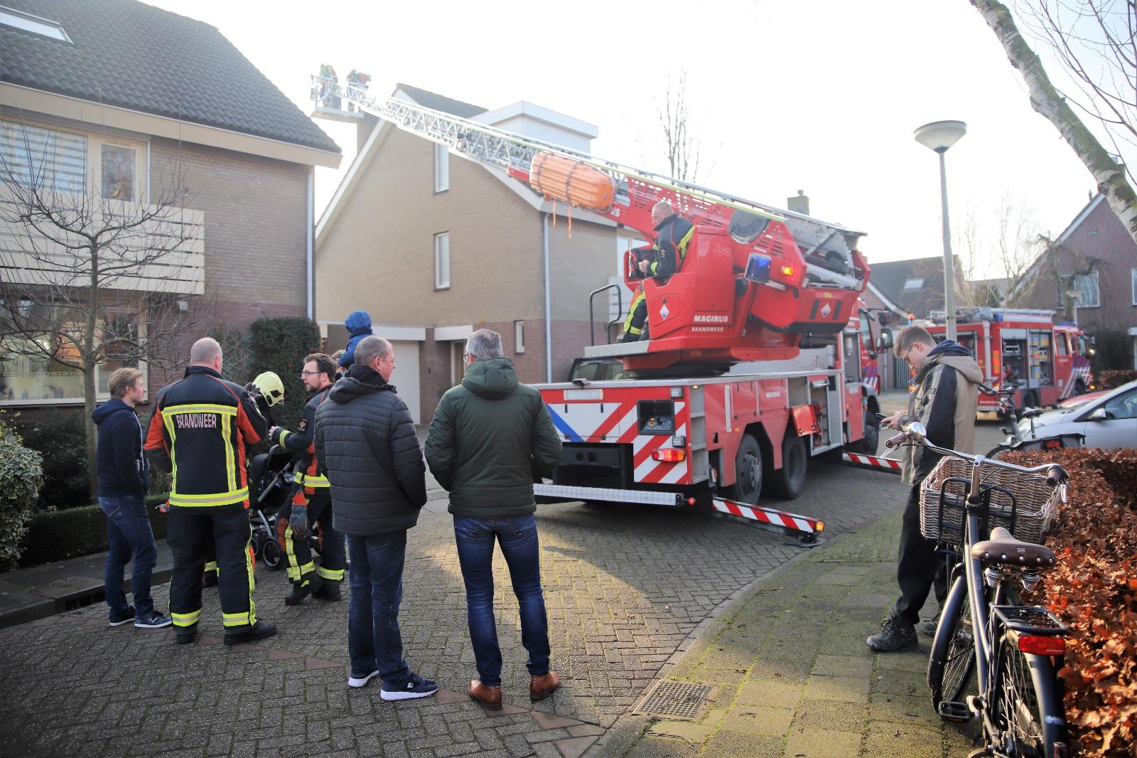 Schoorsteenbrand aan de Zuwe in Bodegraven