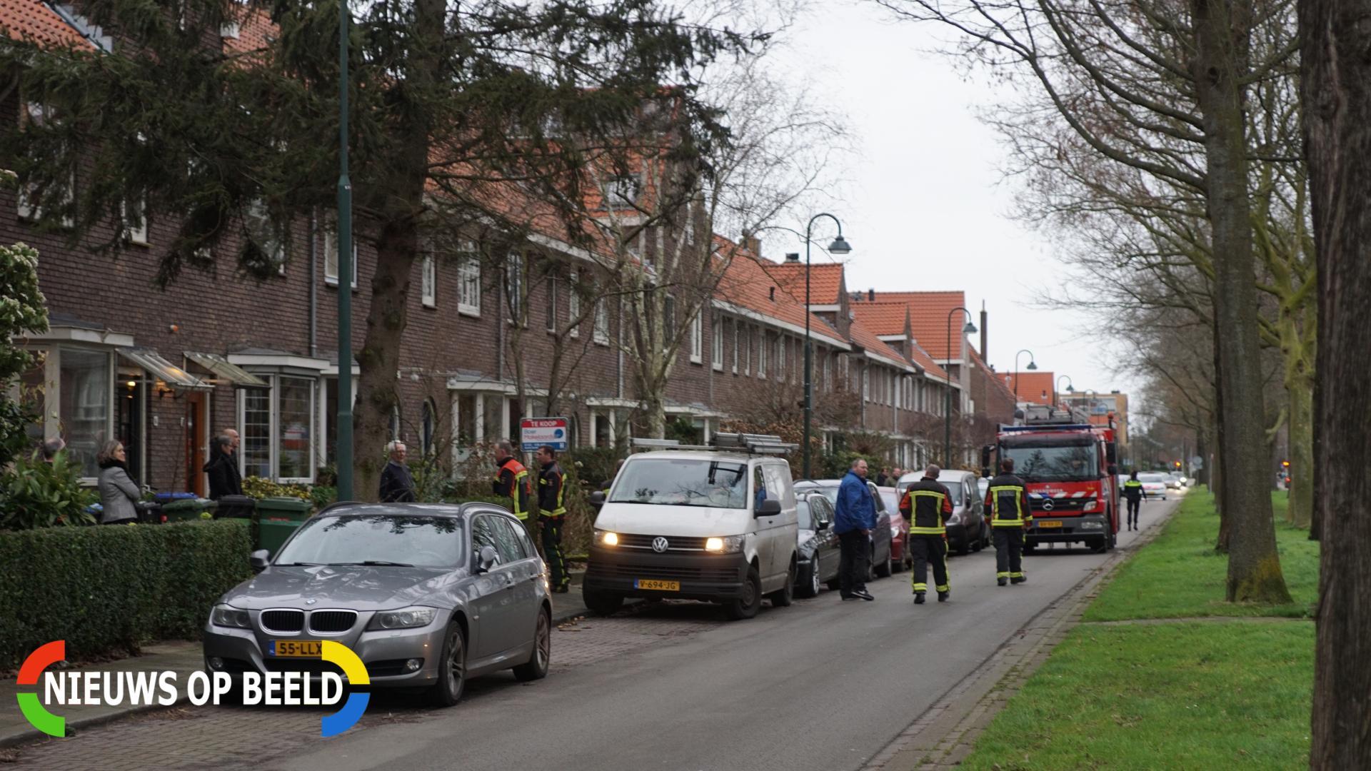 Boom dreigt om tevallen, bewoners halen auto's weg Joubertstraat Gouda