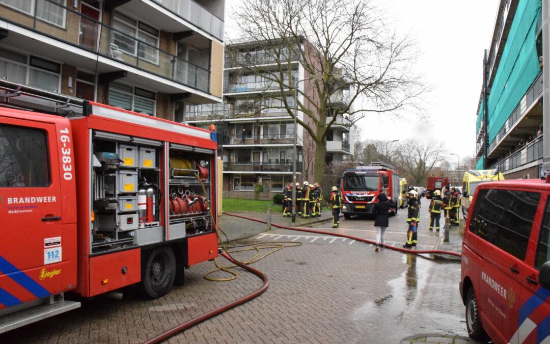 Brand in appartement van flatgebouw Peter Zuidlaan Waddinxveen