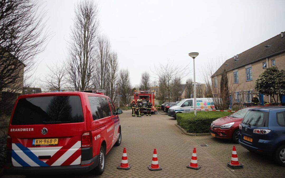 Gaslek bij graafwerkzaamheden in Waddinxveen
