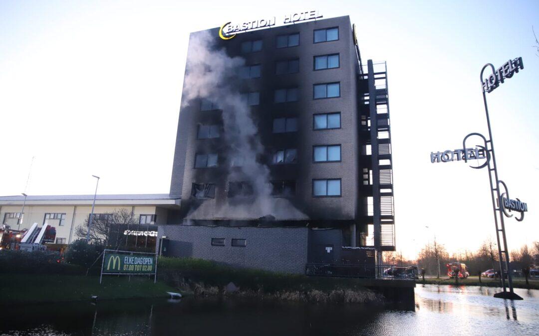 Zeer grote brand in Bastion Hotel in Noord-Holland