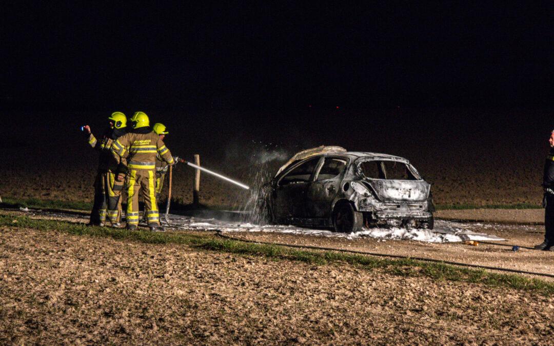 Auto gaat in vlammen op Eendenpoelweg Sittard