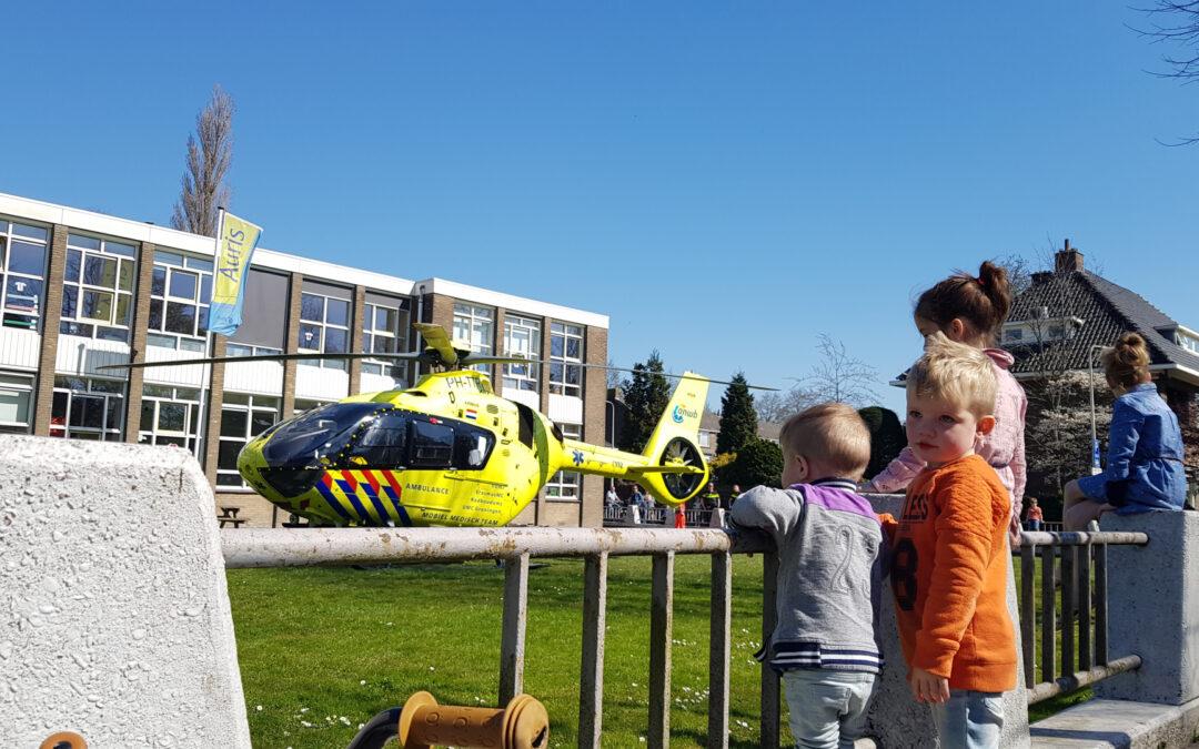 Traumahelikopter landt voor incident in bovenwoning Willem en Marialaan Gouda