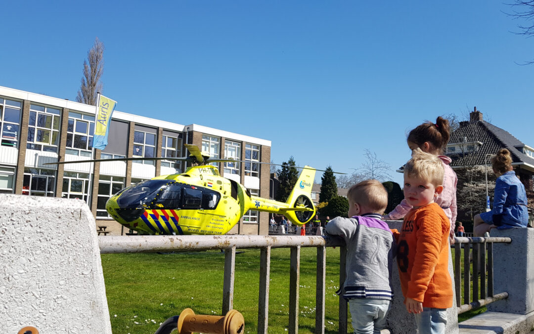 Traumahelikopter landt voor incident in bovenwoning Willem en Marialaan Gouda