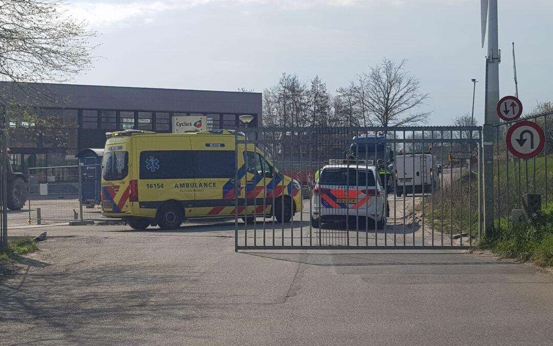 Persoon gewond op afvalbrengstation Goudkade Gouda