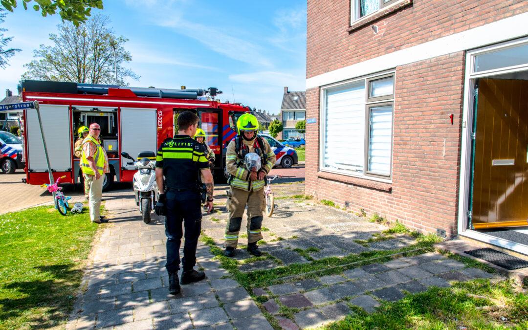 Brandweer rukt uit voor keukenbrand in woning Reigerstraat Rhoon