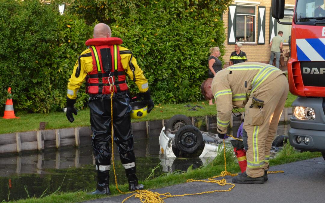 Meerdere gewonden bij auto te water Kleihoogt Berkel en Rodenrijs